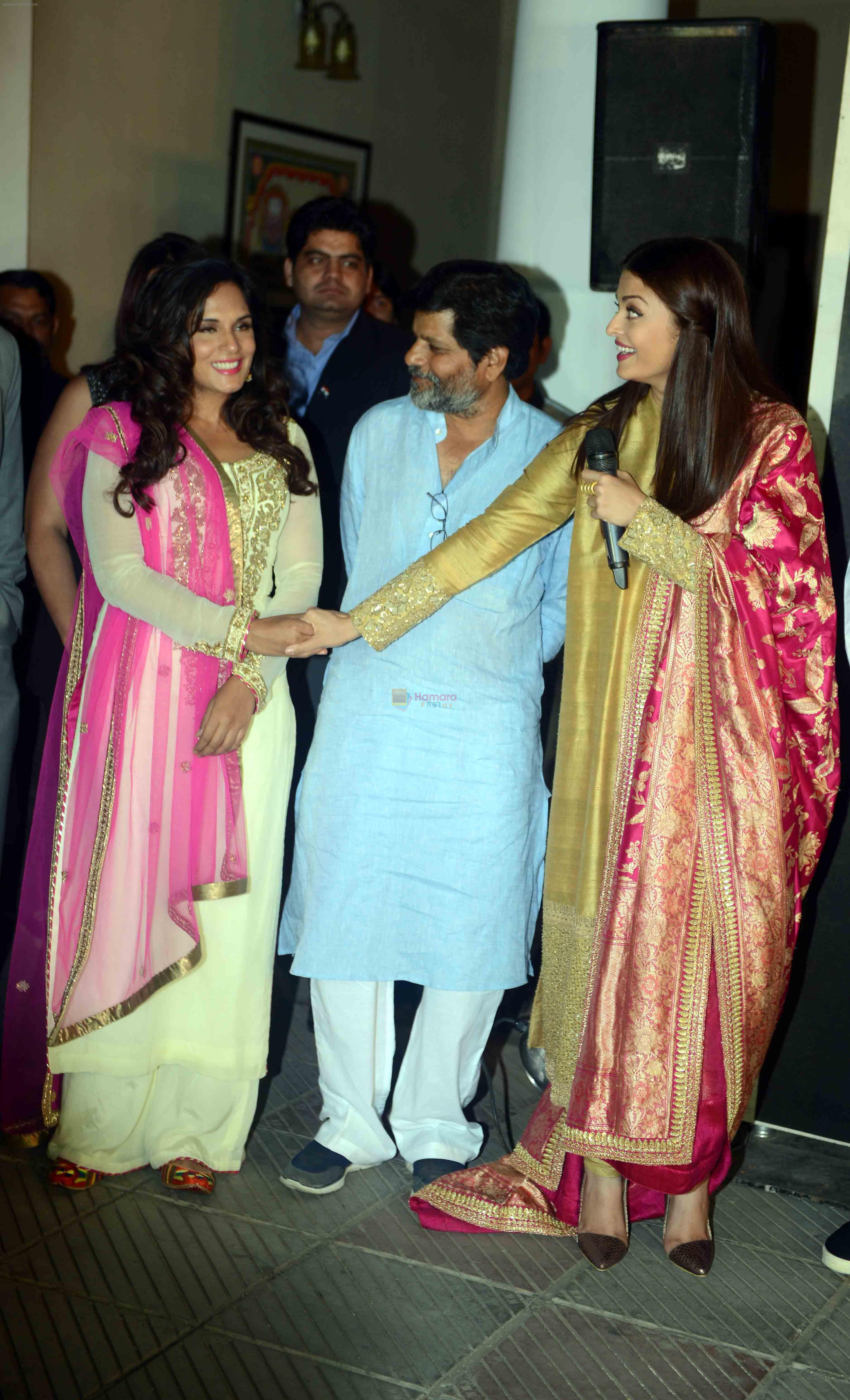 Aishwarya Rai Bachchan, Richa Chadda at the first look launch of Sarbjit in Delhi on 29th Feb 2016