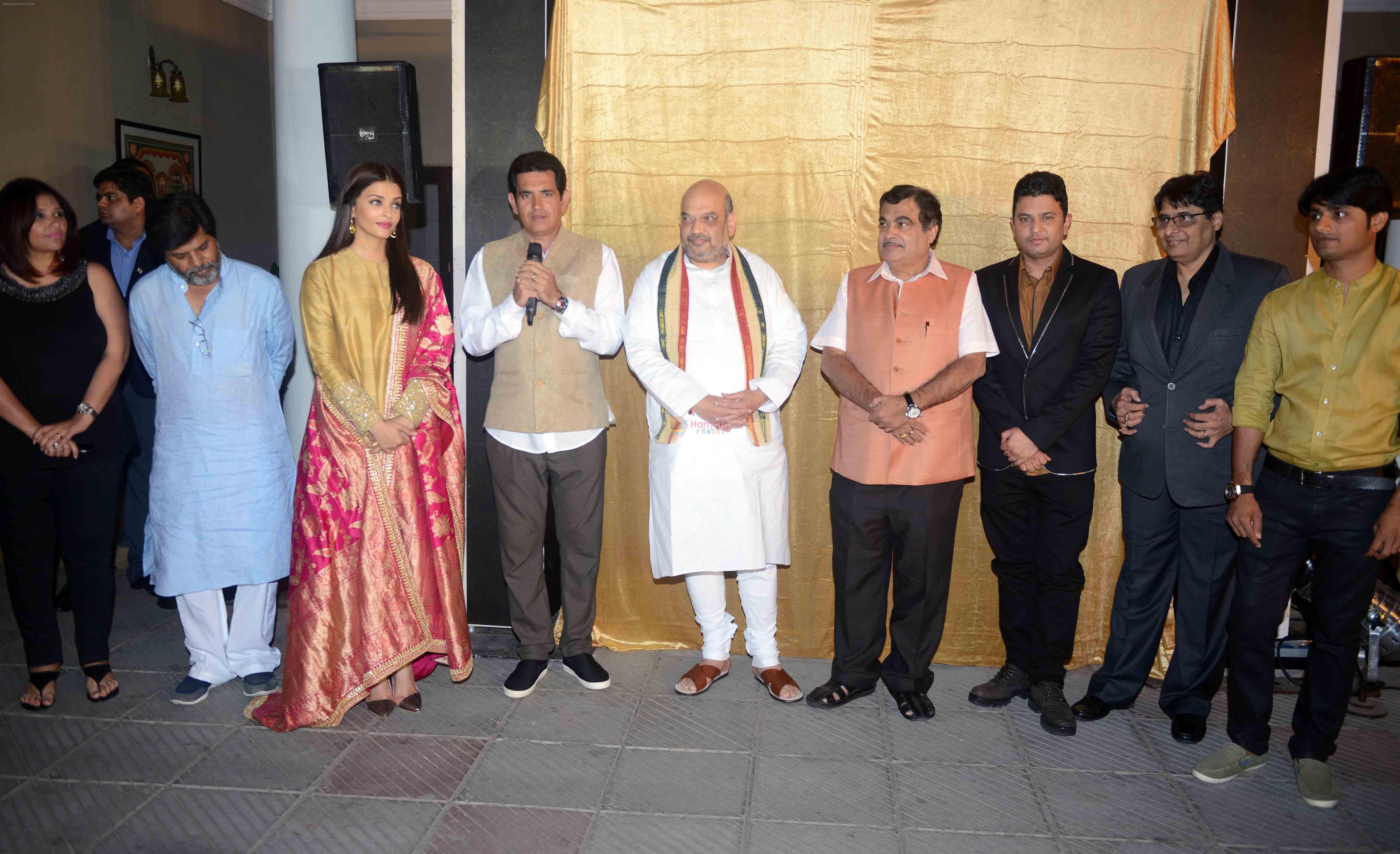 Aishwarya Rai Bachchan, Omung Kumar, Amit Shah at the first look launch of Sarbjit in Delhi on 29th Feb 2016