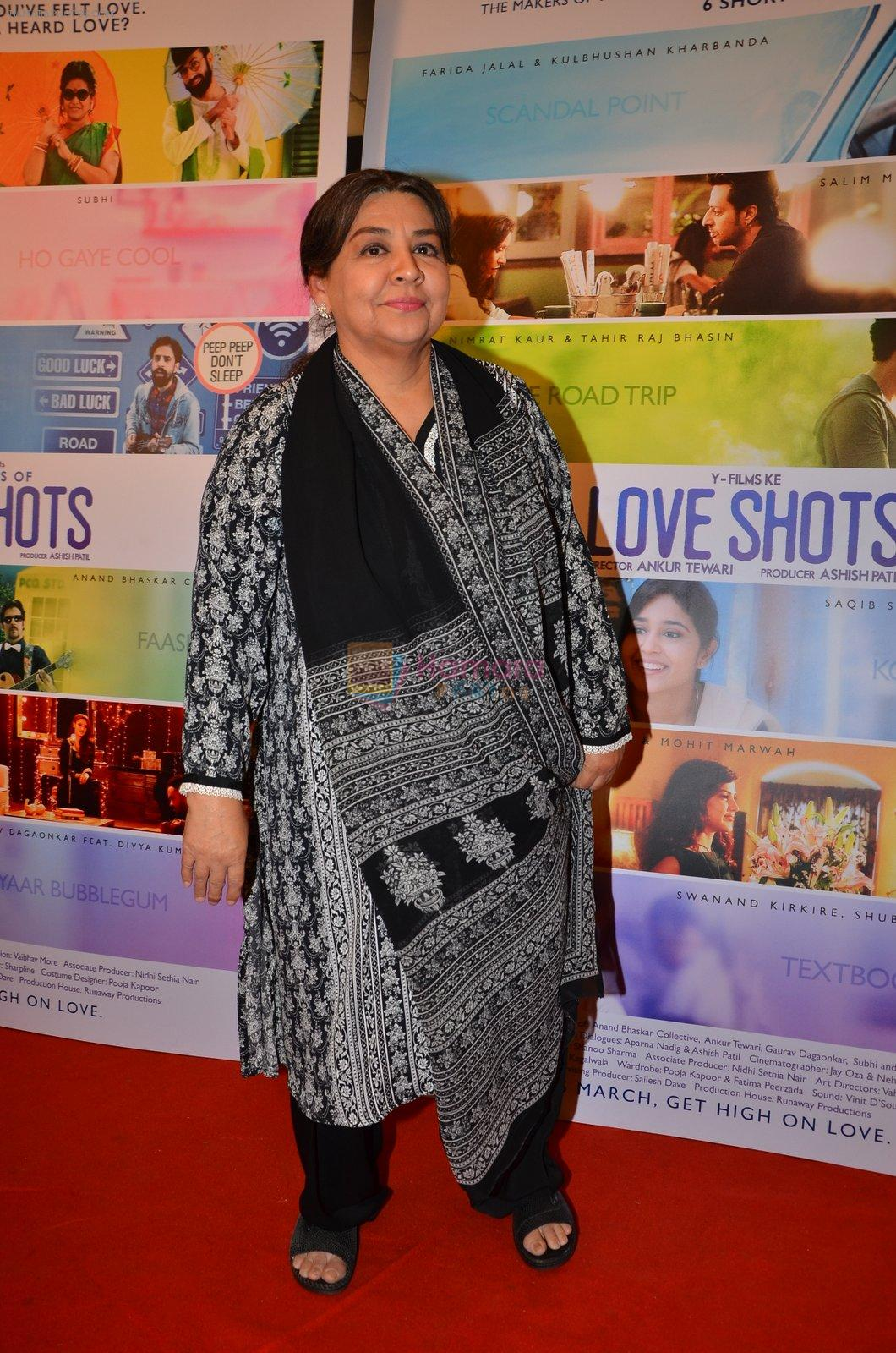 Farida Jalal at the launch of Love Shots film launch on 7th March 2016