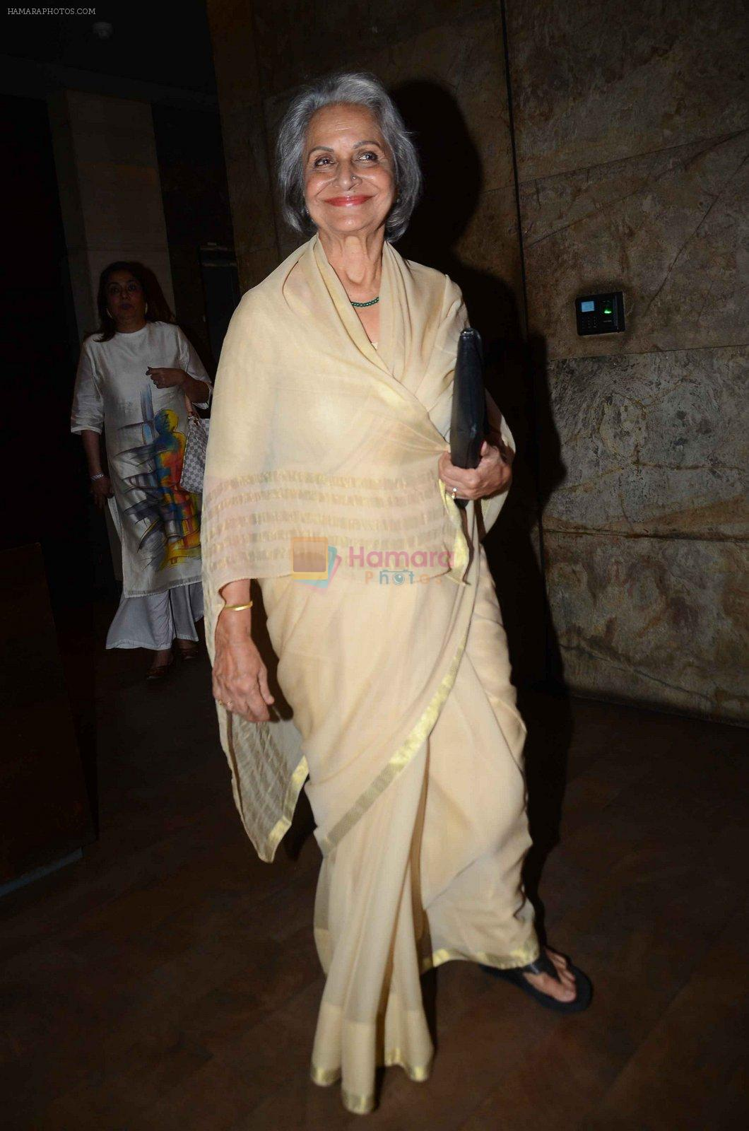 Waheeda Rehman at the sreening of Kapoor N Sons in Lightbox on 17th March 2016