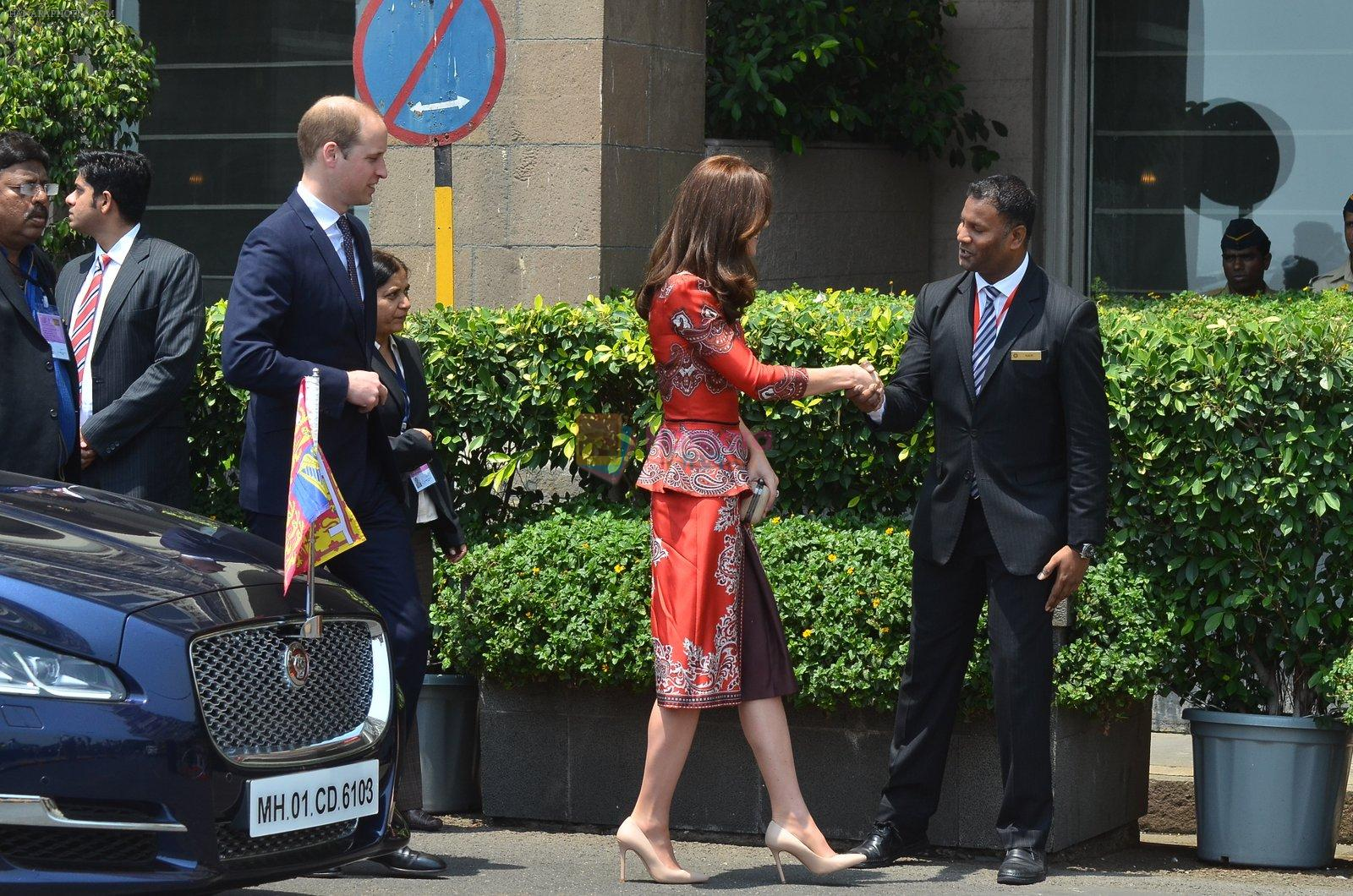 Prince William & Kate Middleton arrive in Mumbai on 10th April 2016