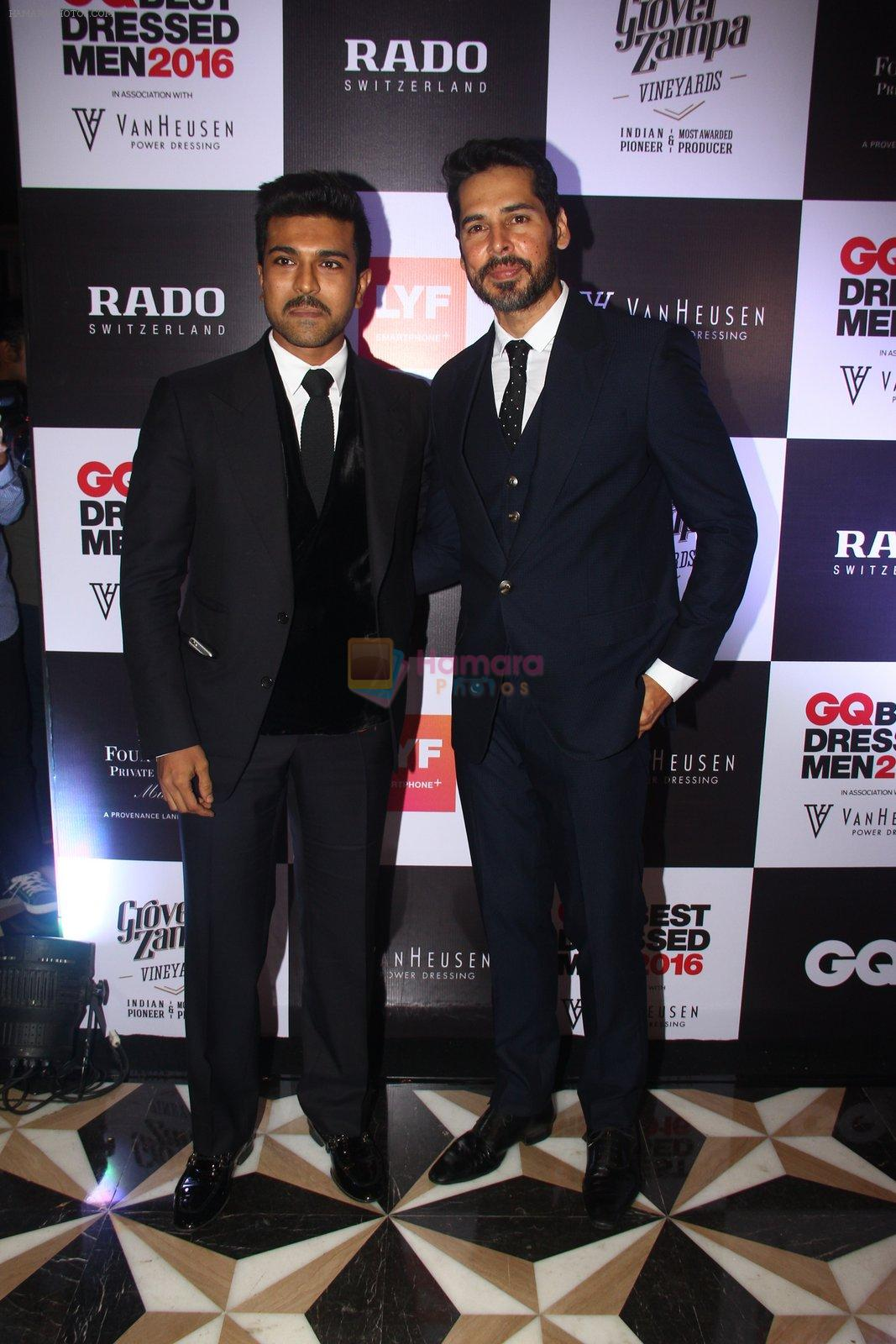 Ram Charan, Dino Morea at GQ Best Dressed Men 2016 in Mumbai on 2nd June 2016