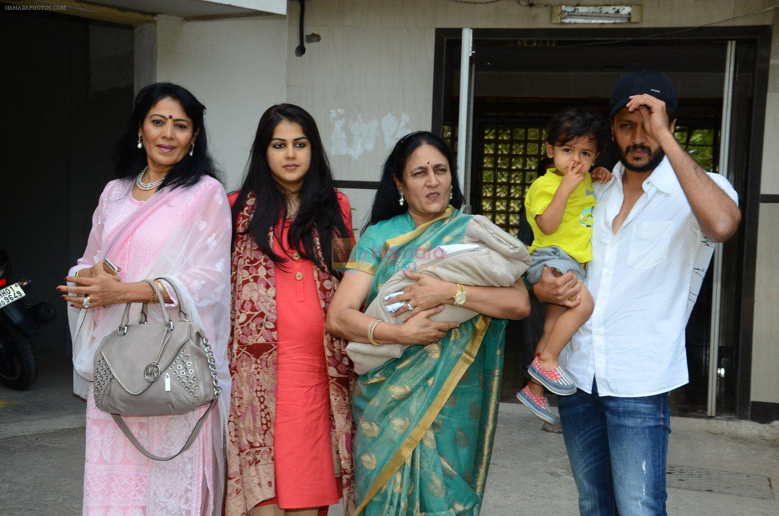 Genelia D Souza and Riteish Deshmukh are blessed with a ...