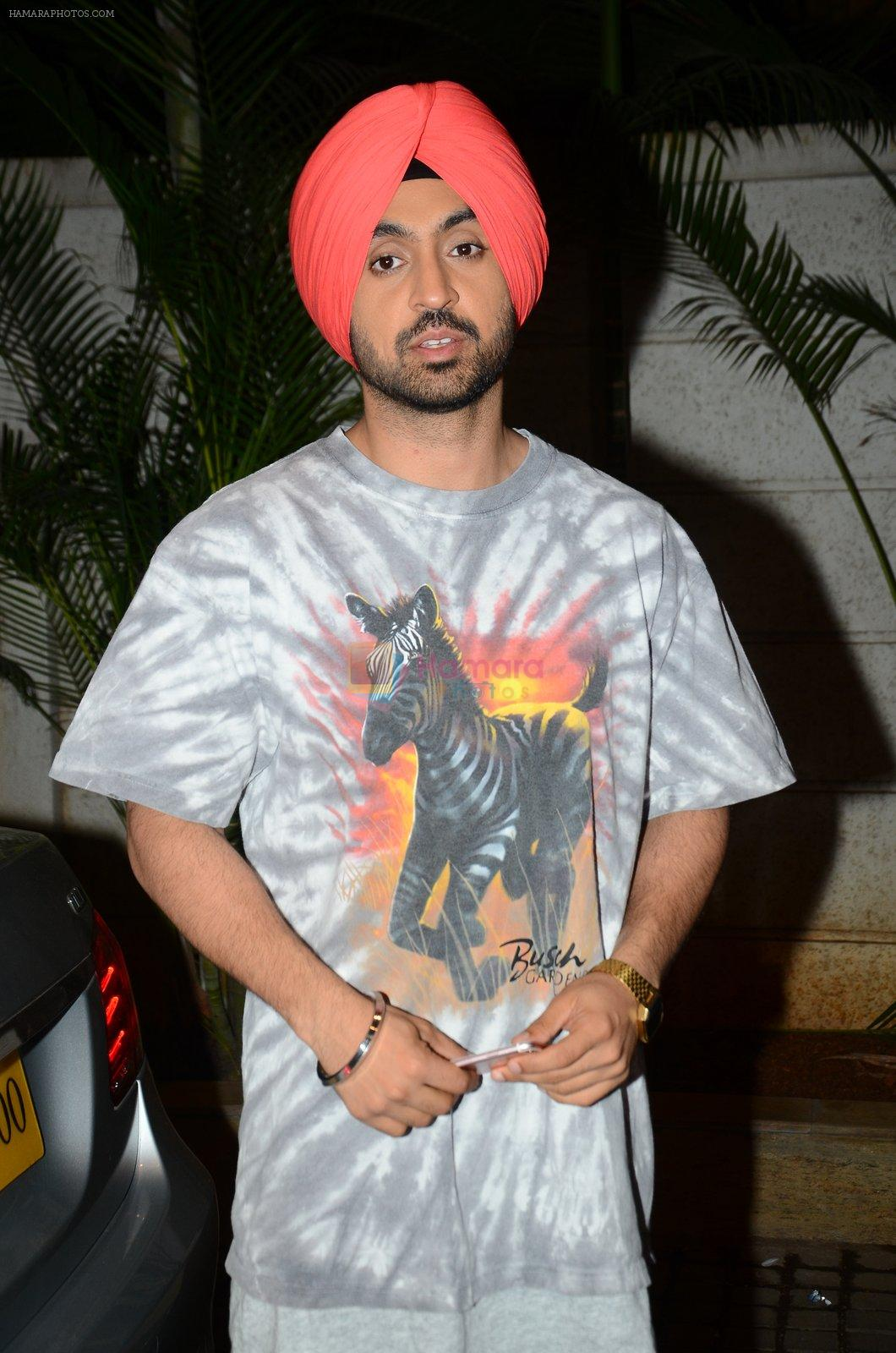 Diljit Dosanjh at Udta Punjab screening in the view on 16th June 2016