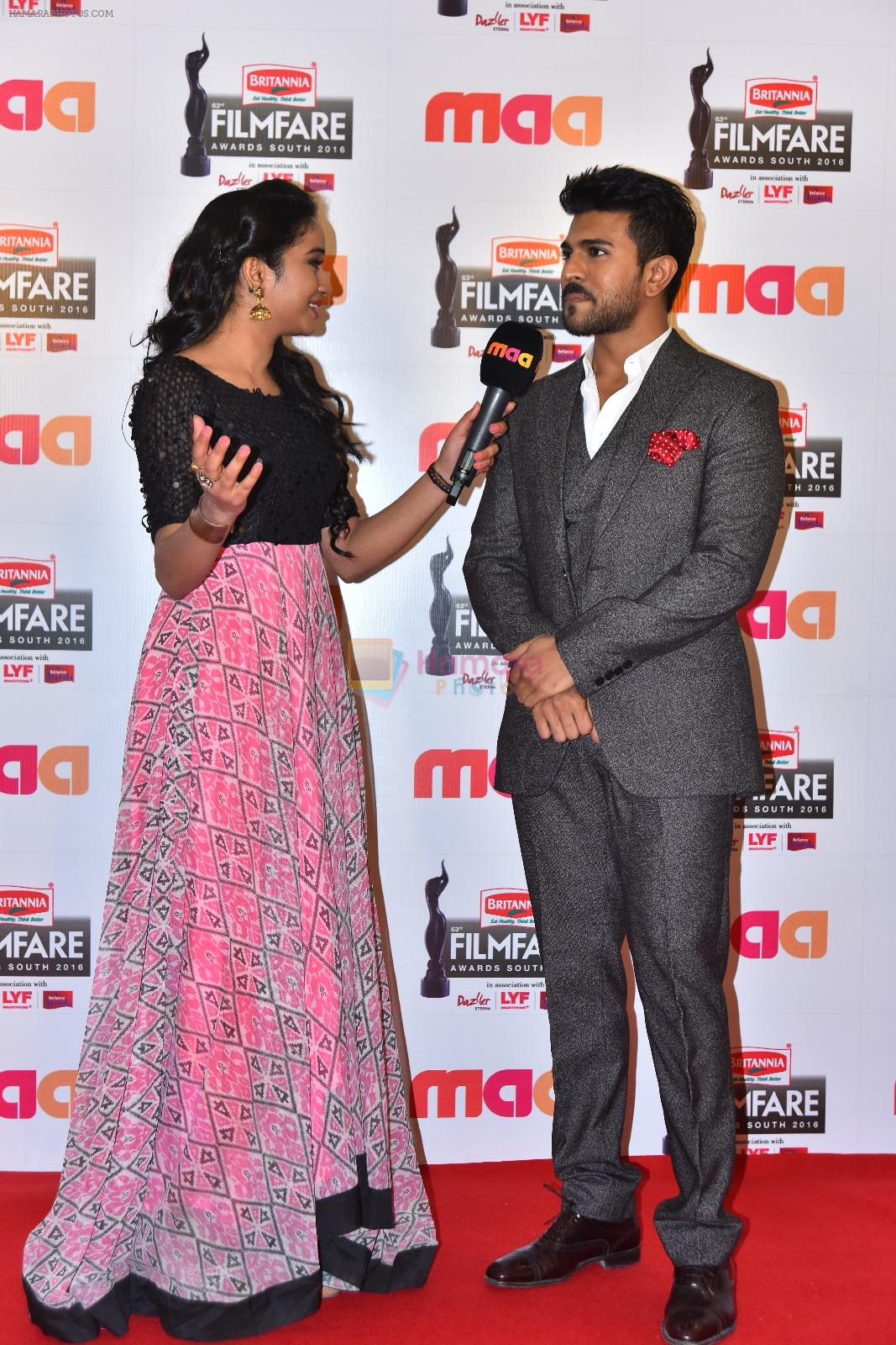 Ram Charan at Film Fare Awards South 2016