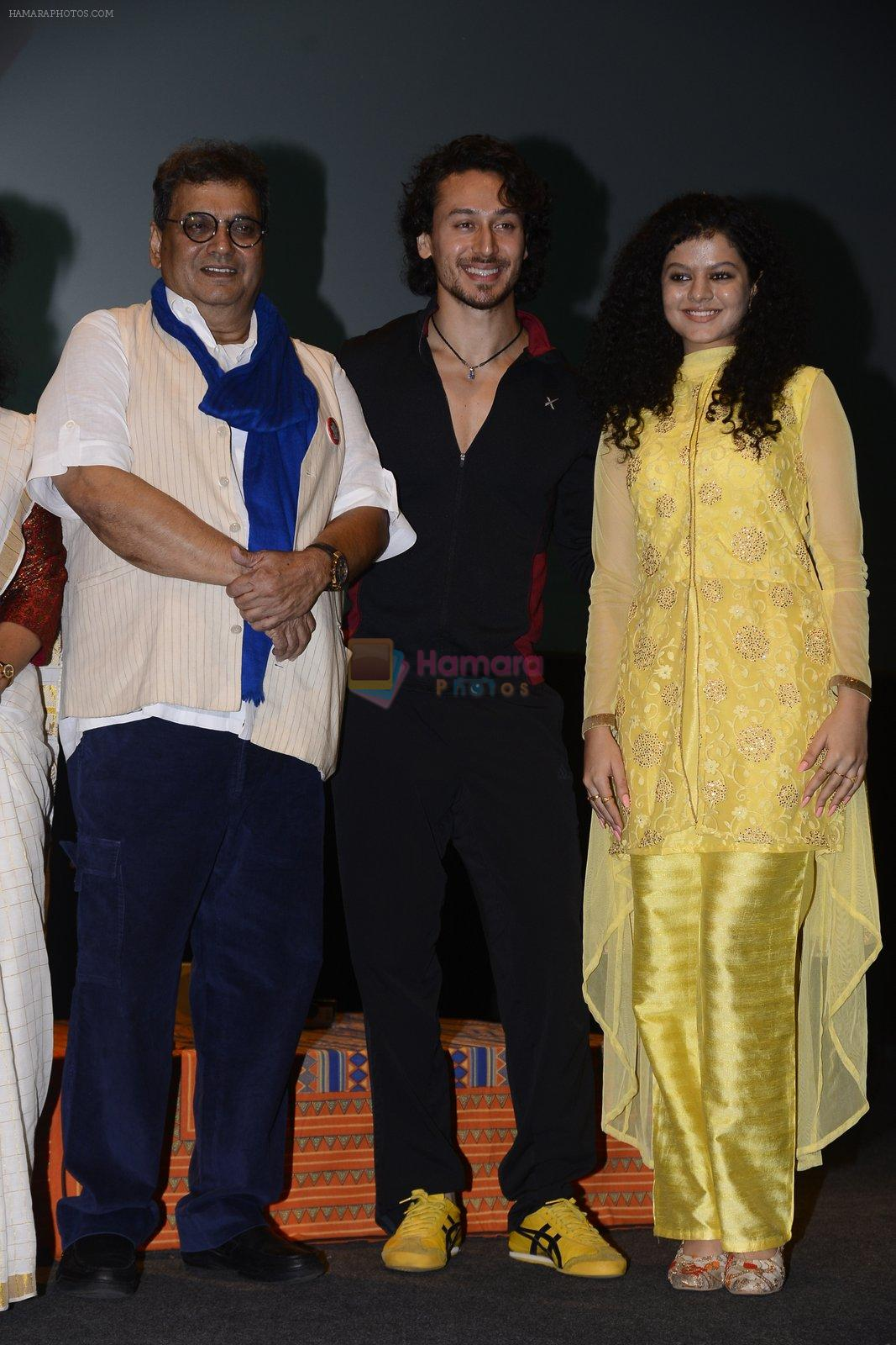 Tiger Shroff, Palak Muchhal, Subhash Ghai celebrates World Yoga Day at whistling woods on 21st June 2016