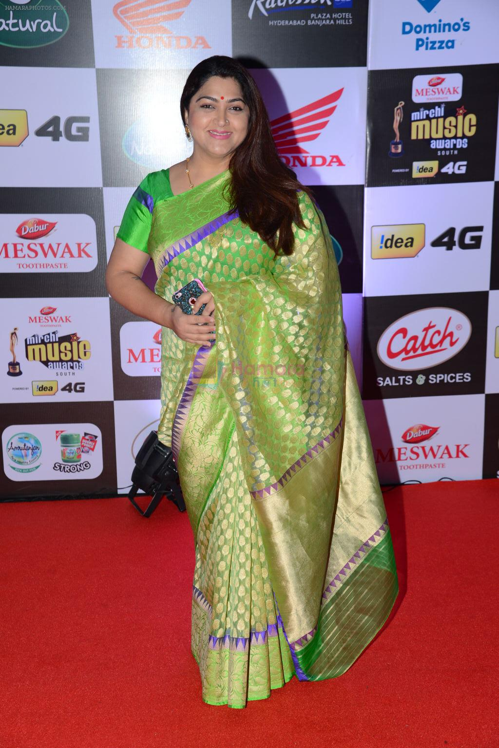 Khushboo at Mirchi Music Awards 2016 on 27th July 2016