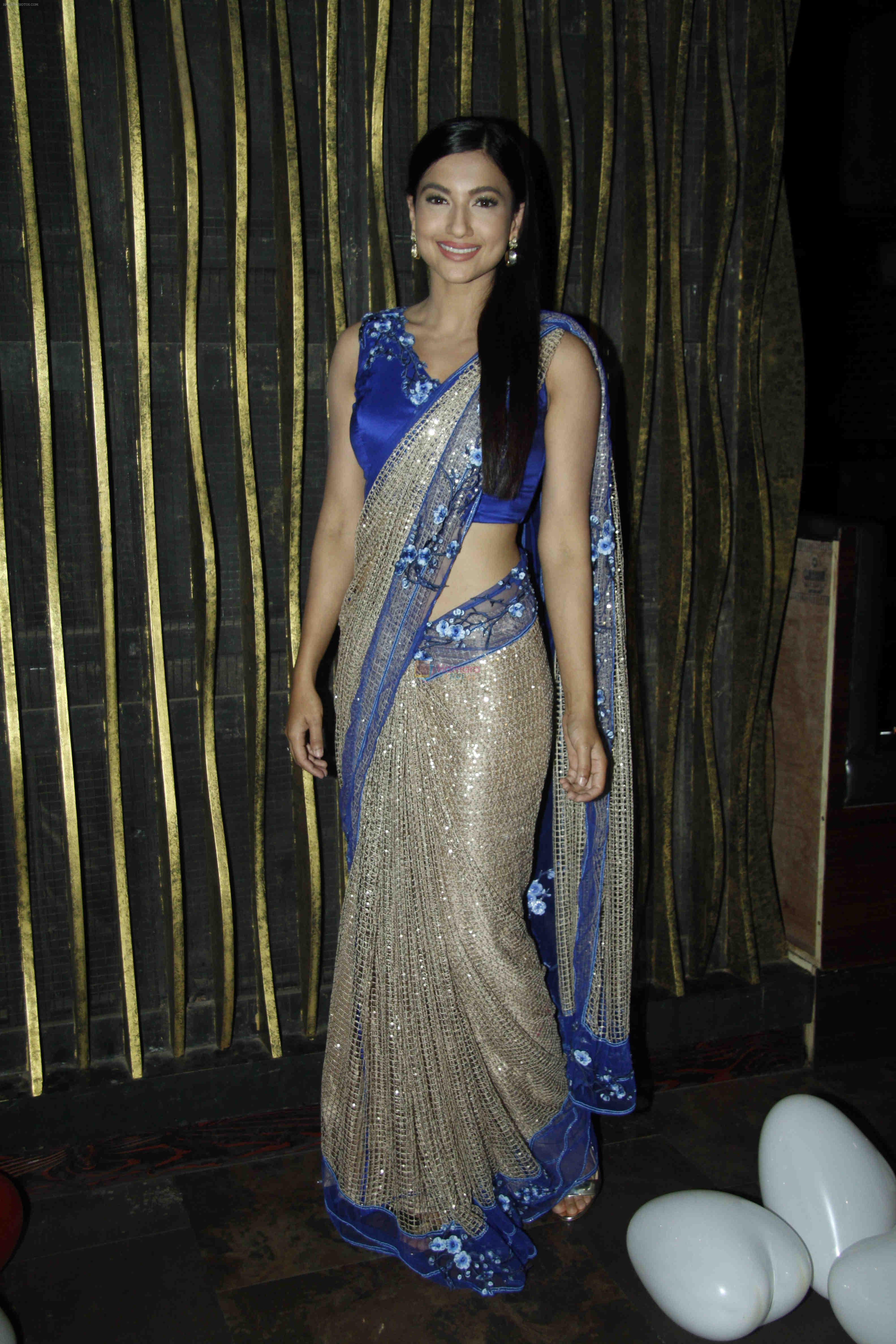 Gauhar Khan at the red carpet of the post wedding celebrations of Sambhavna & Avinash at Bora Bora