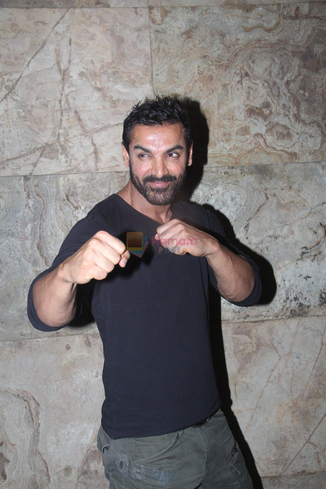 John Abraham at Dishoom screening in yashraj, Mumbai on 28th July 2016
