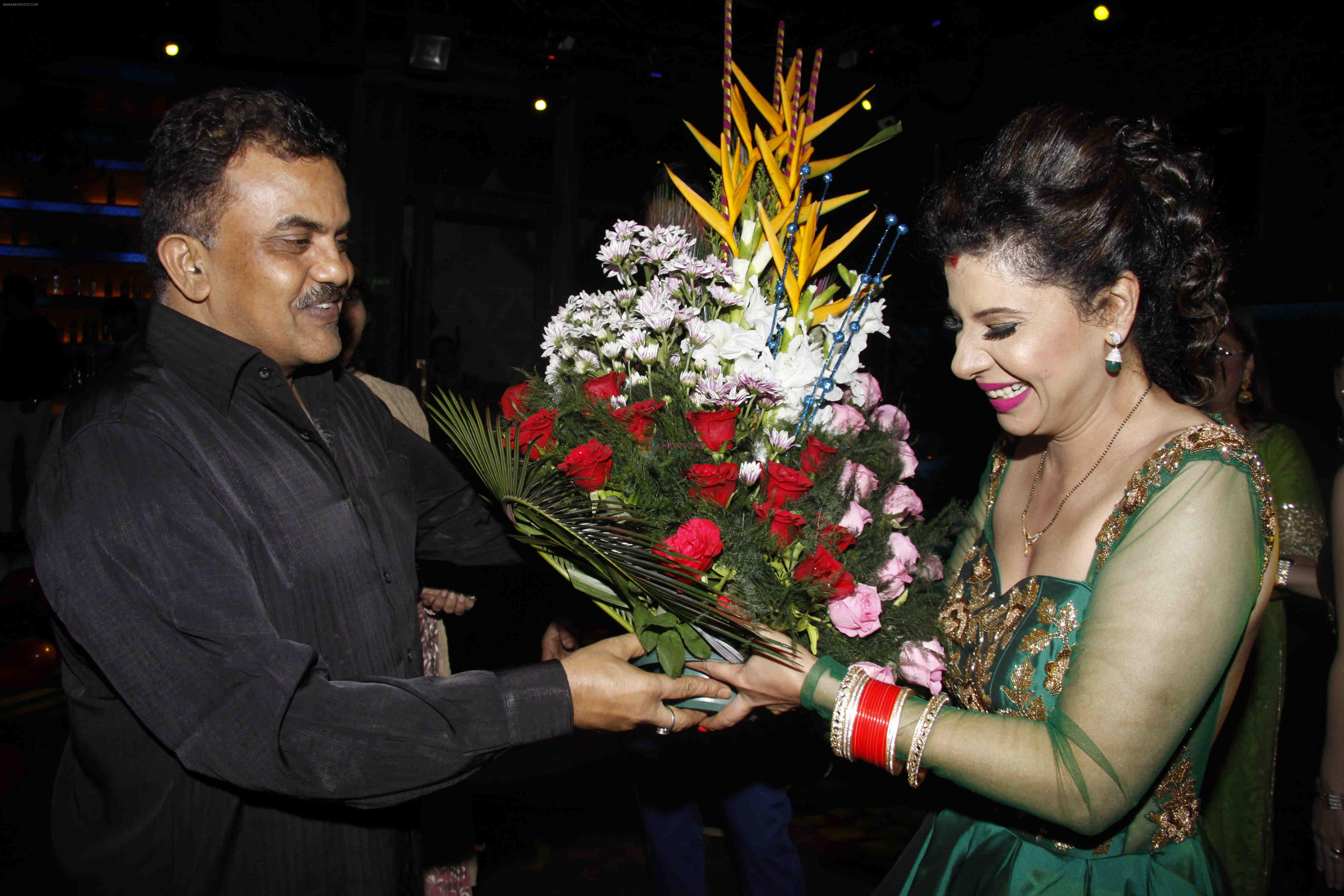 Sanjay Nirupam at the red carpet of the post wedding celebrations of Sambhavna & Avinash at Bora Bora