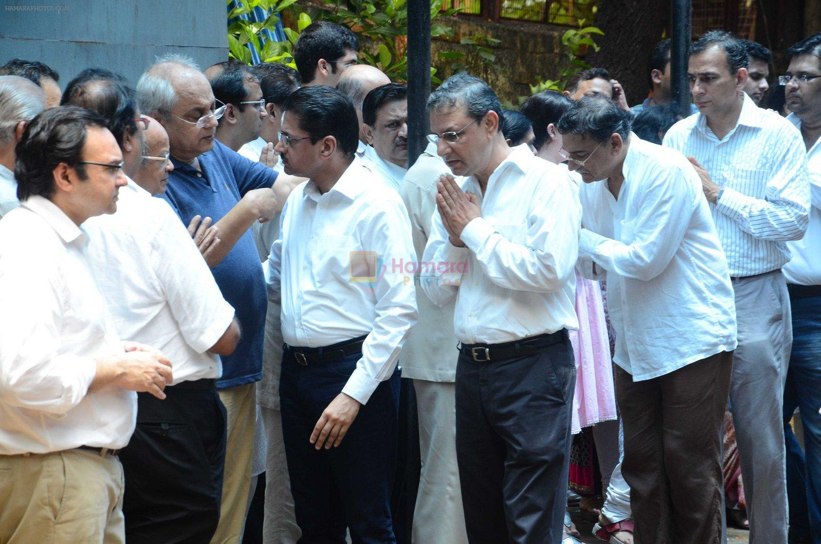 at Rajjat Barjatya funeral on 30th July 2016