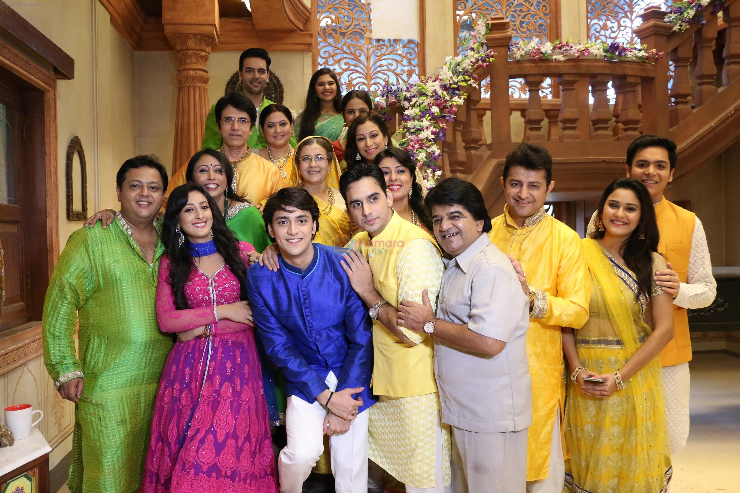 The cast of Ek Rishta Saajhedari Ka poses at the launch event in Mumbai