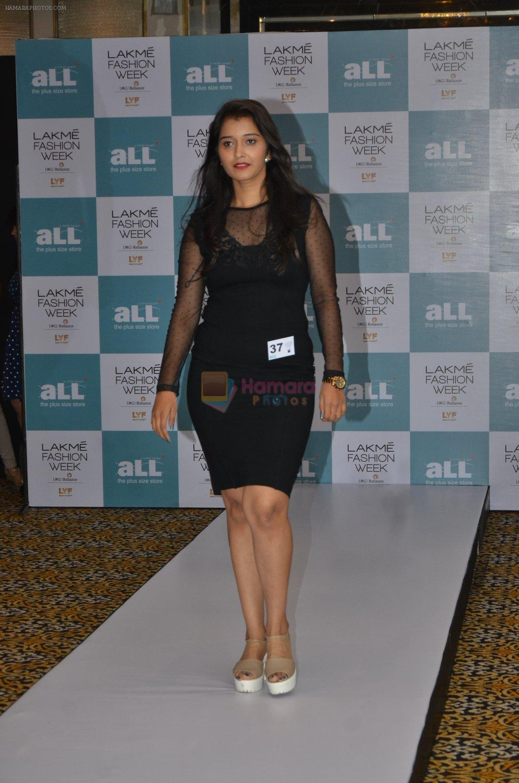 at Lakme plus size model auditions in Mumbai on 29th July 2016