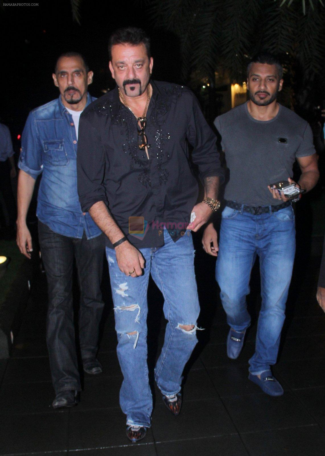 Sanjay Dutt snapped post dinner on 29th July 2016