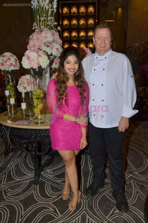 Anandita De with Chef Martin Kindleysides at The Drawing Room in St Regis Mumbai on 30th July 2016