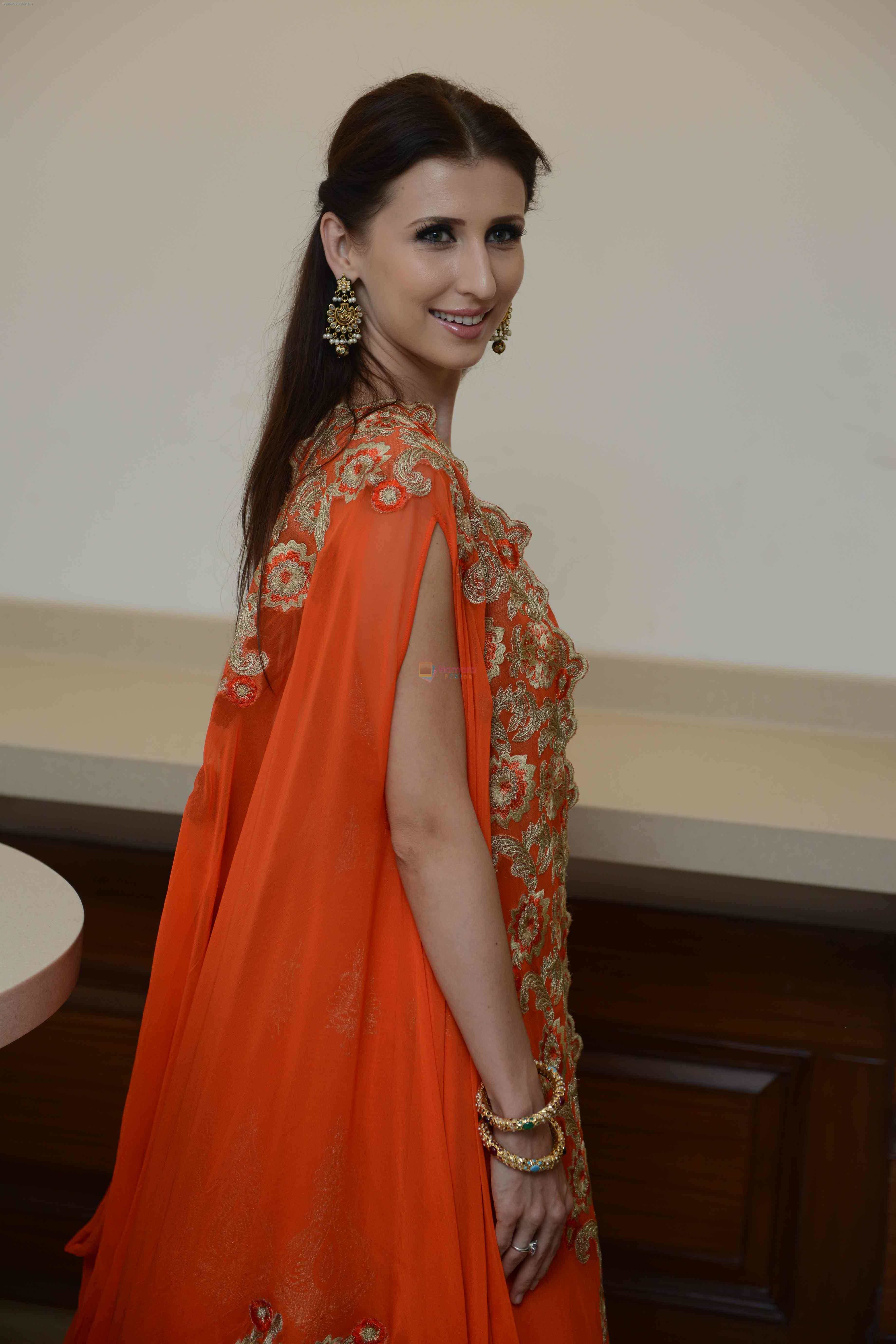 Claudia Ciesla during the Press confrence of Luv Kush biggest Ram Leela at Constitutional Club, Rafi Marg in New Delhi on 31st July 2016