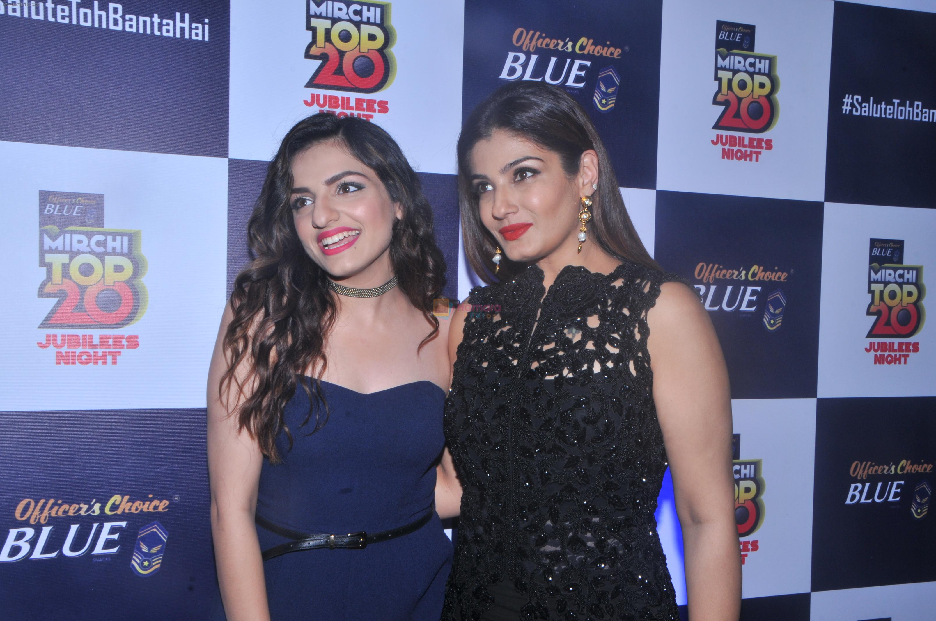 Raveena Tandon at the Officer's Choice Blue Mirchi Top 20 charts of 2016 on 1st Aug 2016