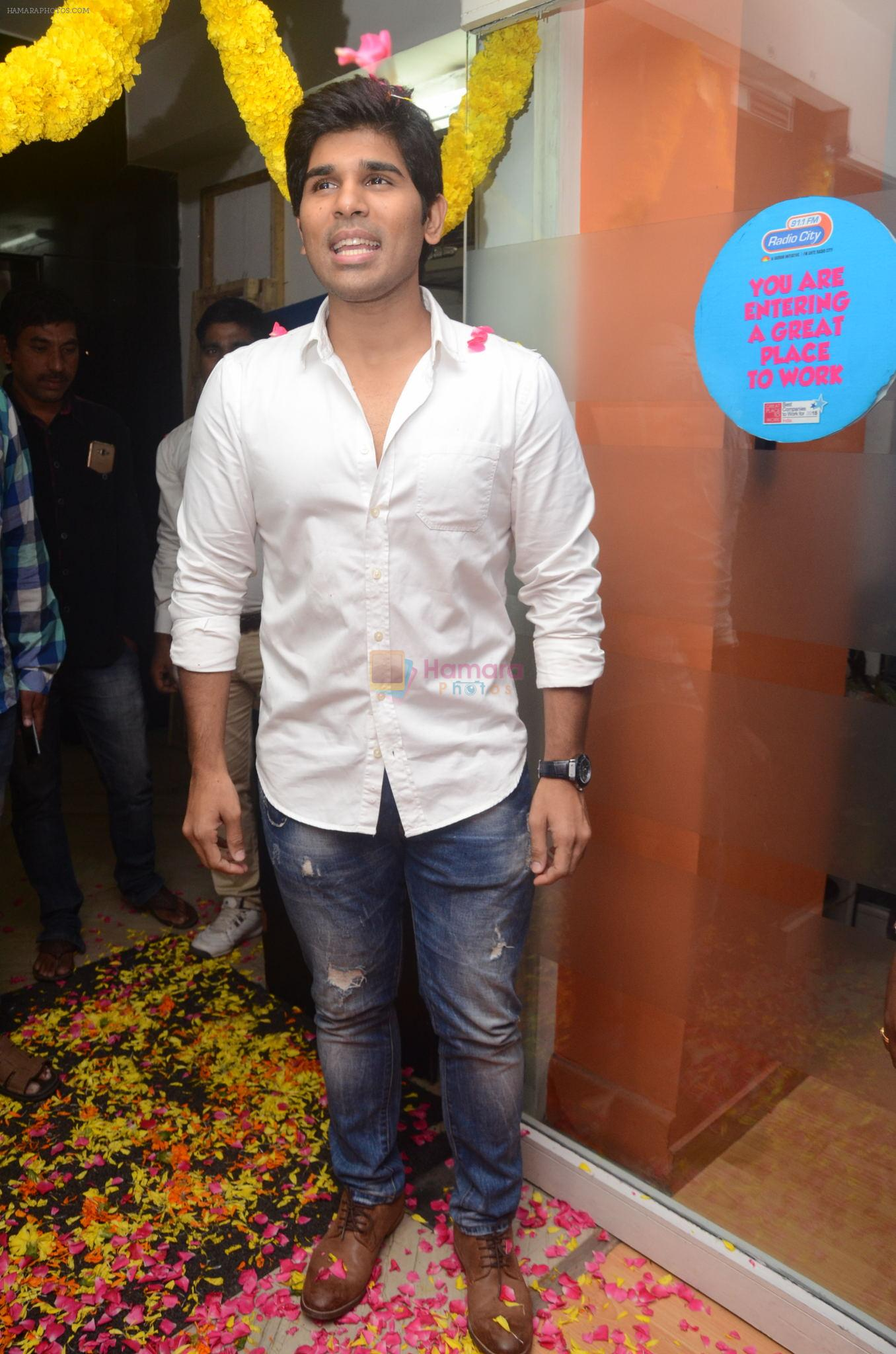 Allu Sirish during the promotion of Telugu movie Srirastu Subhamastu at Radio City on 2nd August 2016
