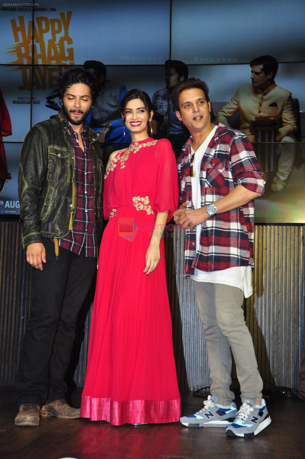 Diana Penty, Ali Fazal, Jimmy Shergill, Mika Singh at Happy Bhag Jayegi launch in Mumbai on 2nd Aug 2016