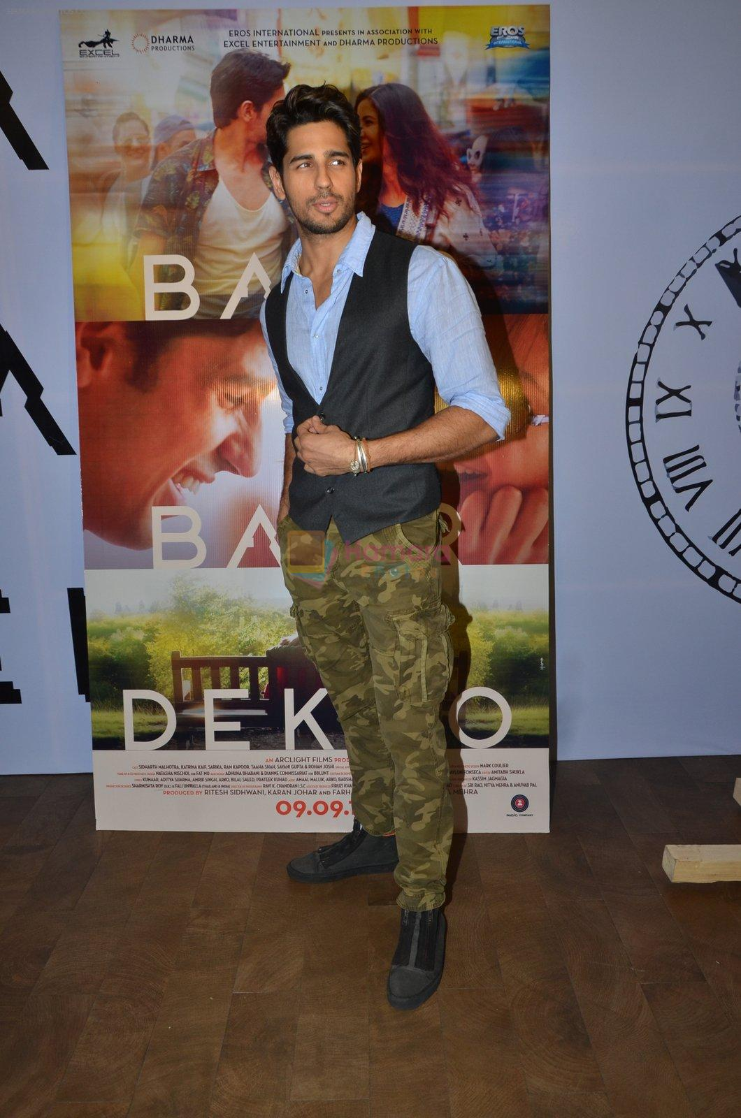 Sidharth Malhotra promote film Baar Baar Dekho on August 2nd 2016