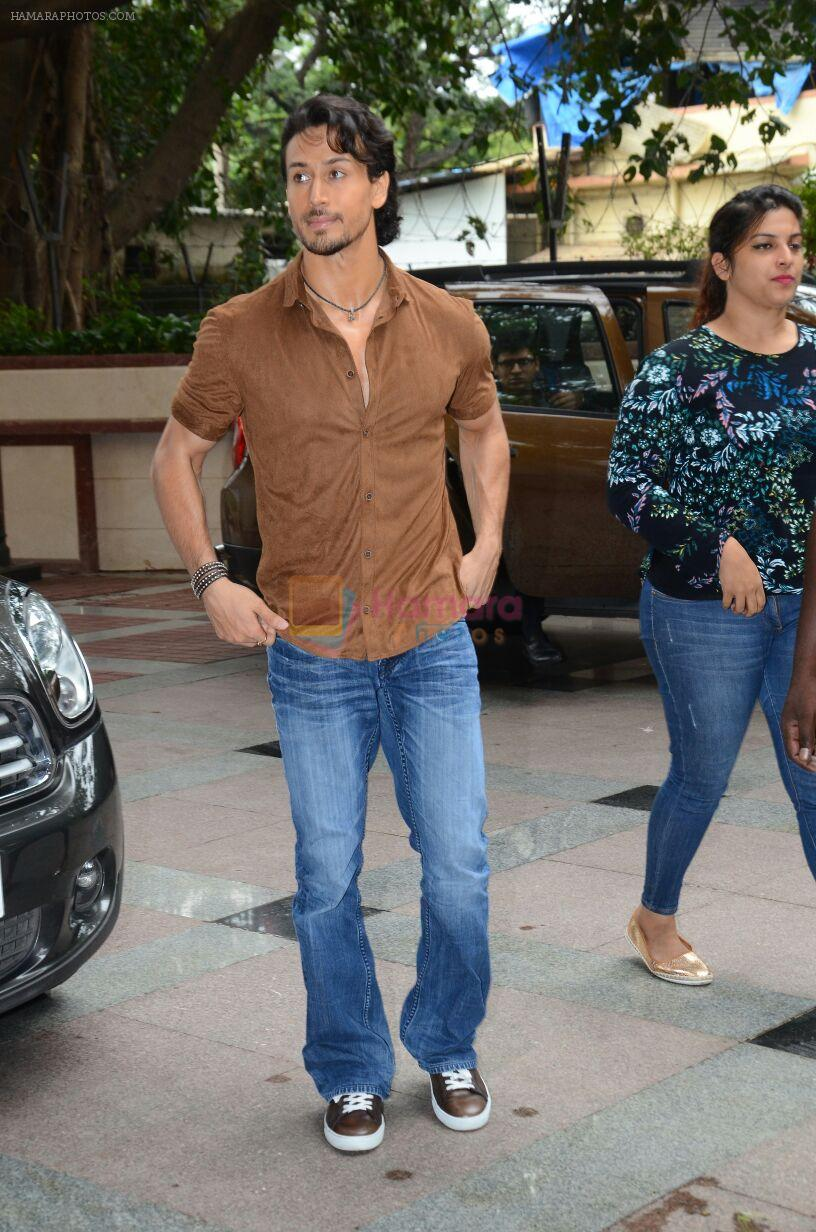 Tiger Shroff during the audio launch of Beat Pe Booty song from film A Flying Jatt at the Radio City Studios in Mumbai, India on August 3, 3016