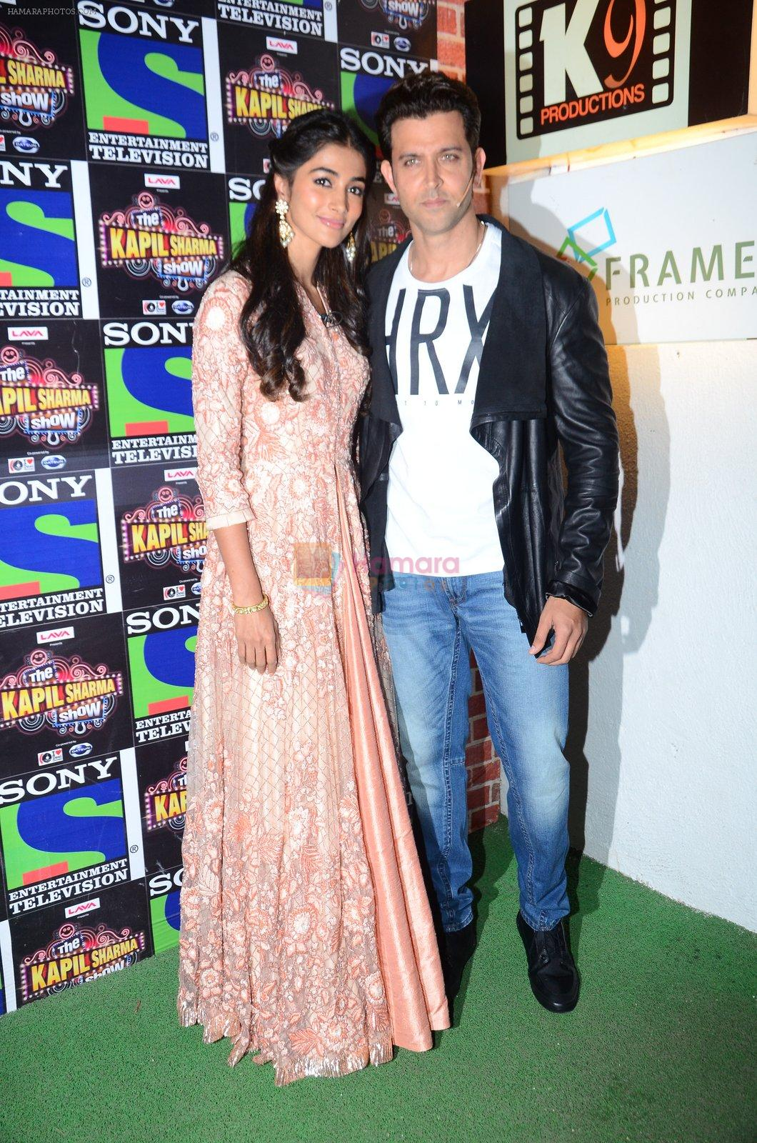 Hrithik Roshan, Pooja Hegde promote Mohenjo Daro on the sets of The Kapil Sharma Show on 2nd Aug 2016