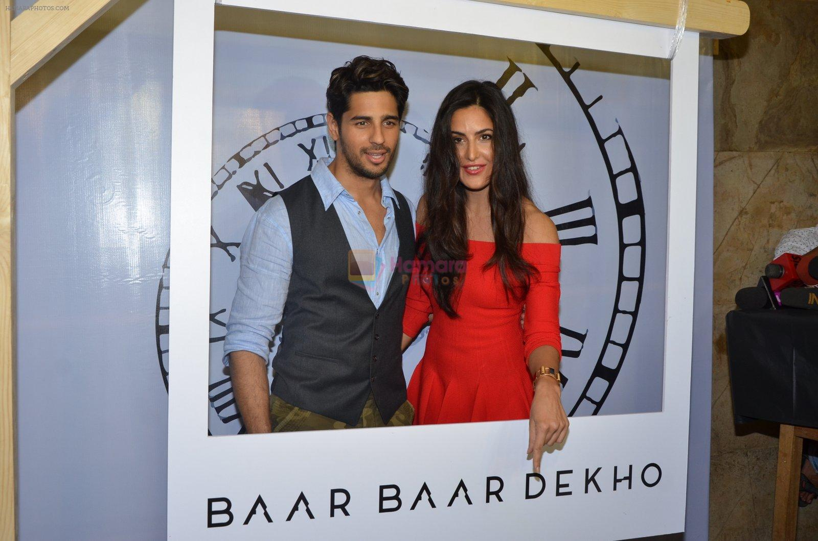 Sidharth Malhotra and Katrina Kaif promote film Baar Baar Dekho on August 2nd 2016