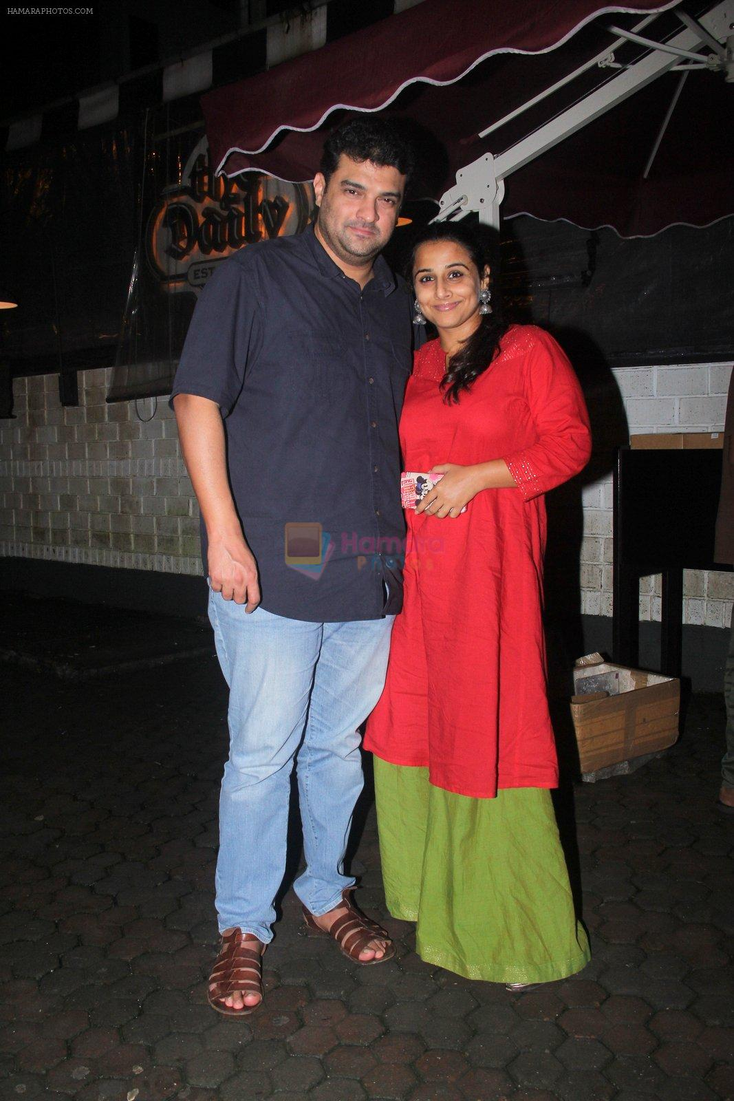 Vidya Balan celebrates Siddharth Roy's bday with a dinner date on 2nd Aug 2016