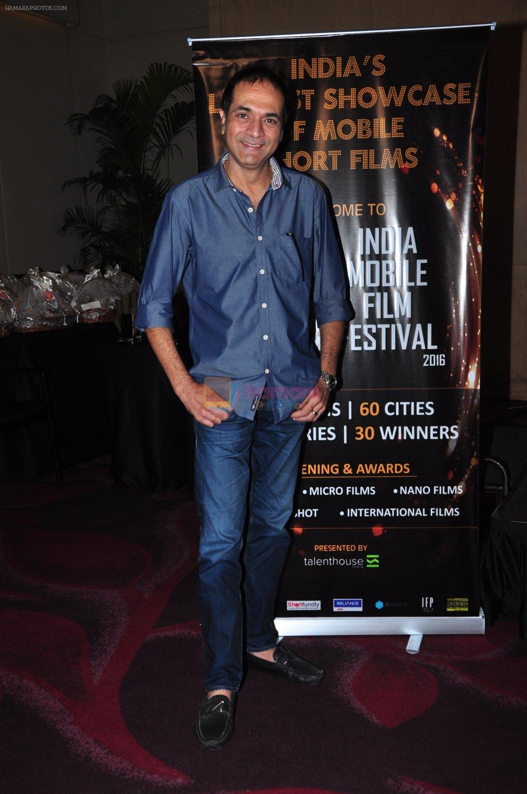 at India mobile film festival in Mumbai on 3rd Aug 2016