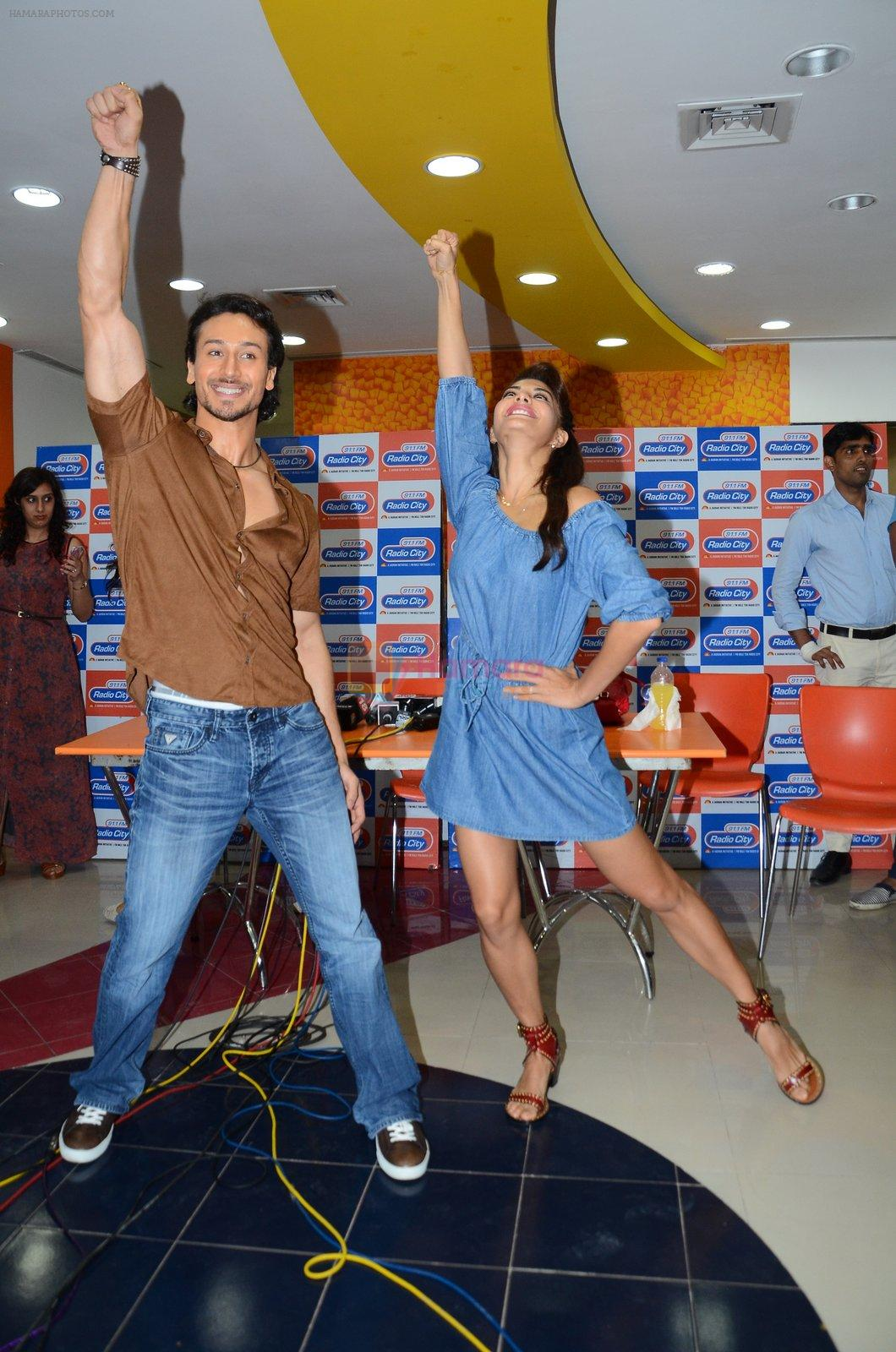 Tiger Shroff and Jacqueline Fernandez at Flying Jatt song launch at Radio City in Mumbai on August 3, 3016