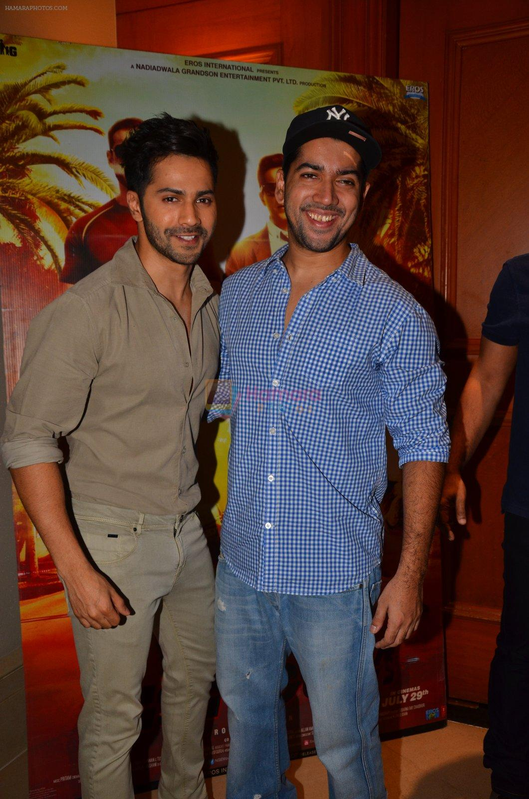 Varun Dhawan, Rohit Dhawan at Dishoom Movie Press Meet on 3rd August 2016