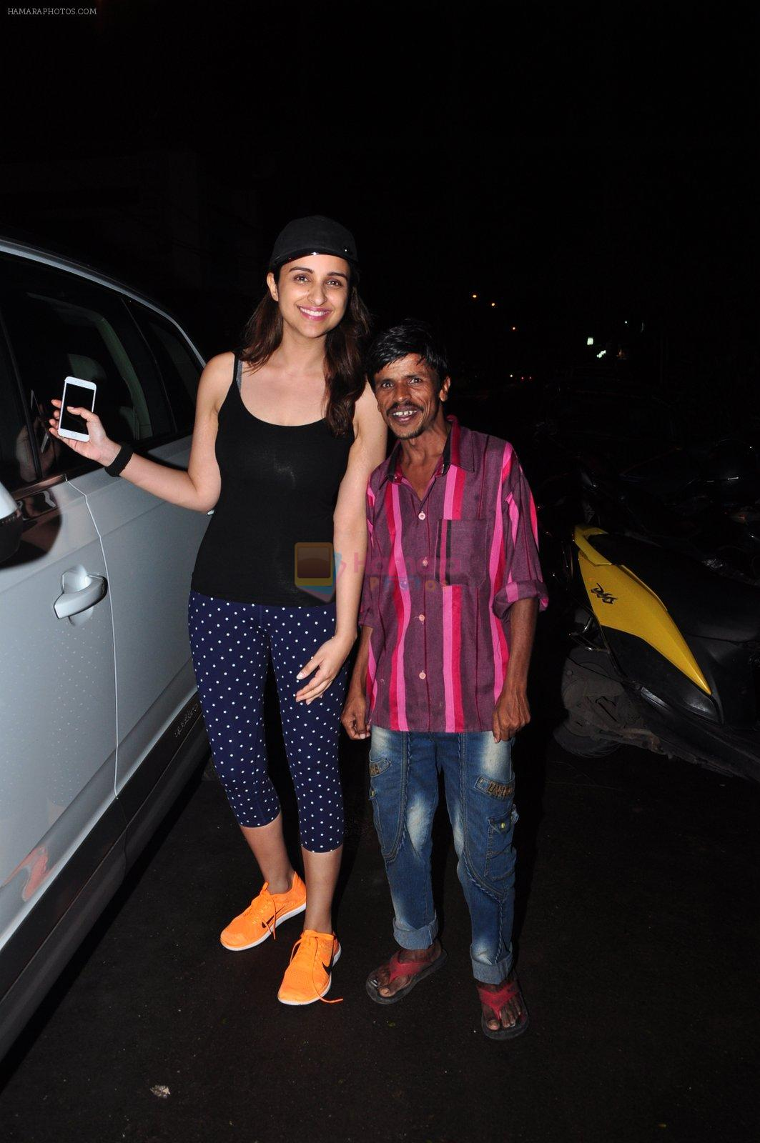 Parineeti Chopra with Dream Team cast snapped post rehearsals on 3rd Aug 2016