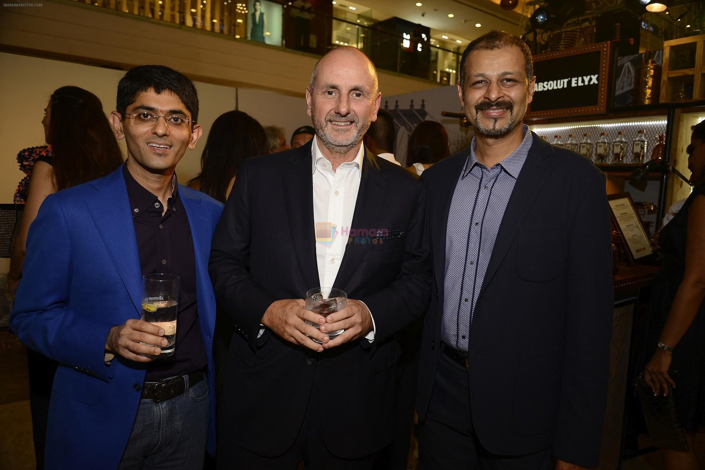 Nikhil Mehra, COO, Genesis Luxury with Ian Bickley, President, Coach International and Atul Ruia Phoenix Mills Joint Managing Director  At The Coach Launch Celebrations
