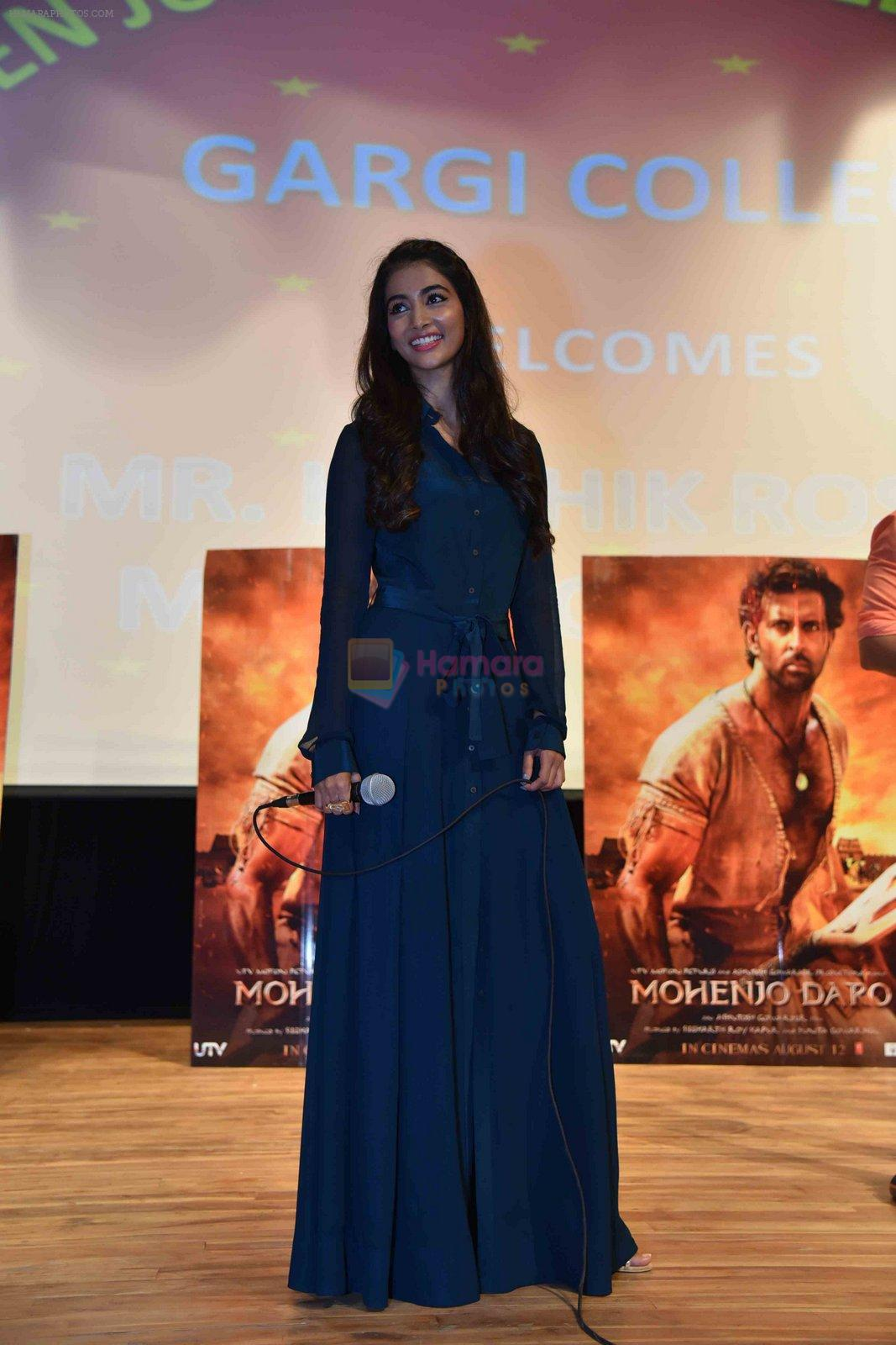 Pooja Hegde at Mohenjo Daro promotions in Gargi college on 5th Aug 2016