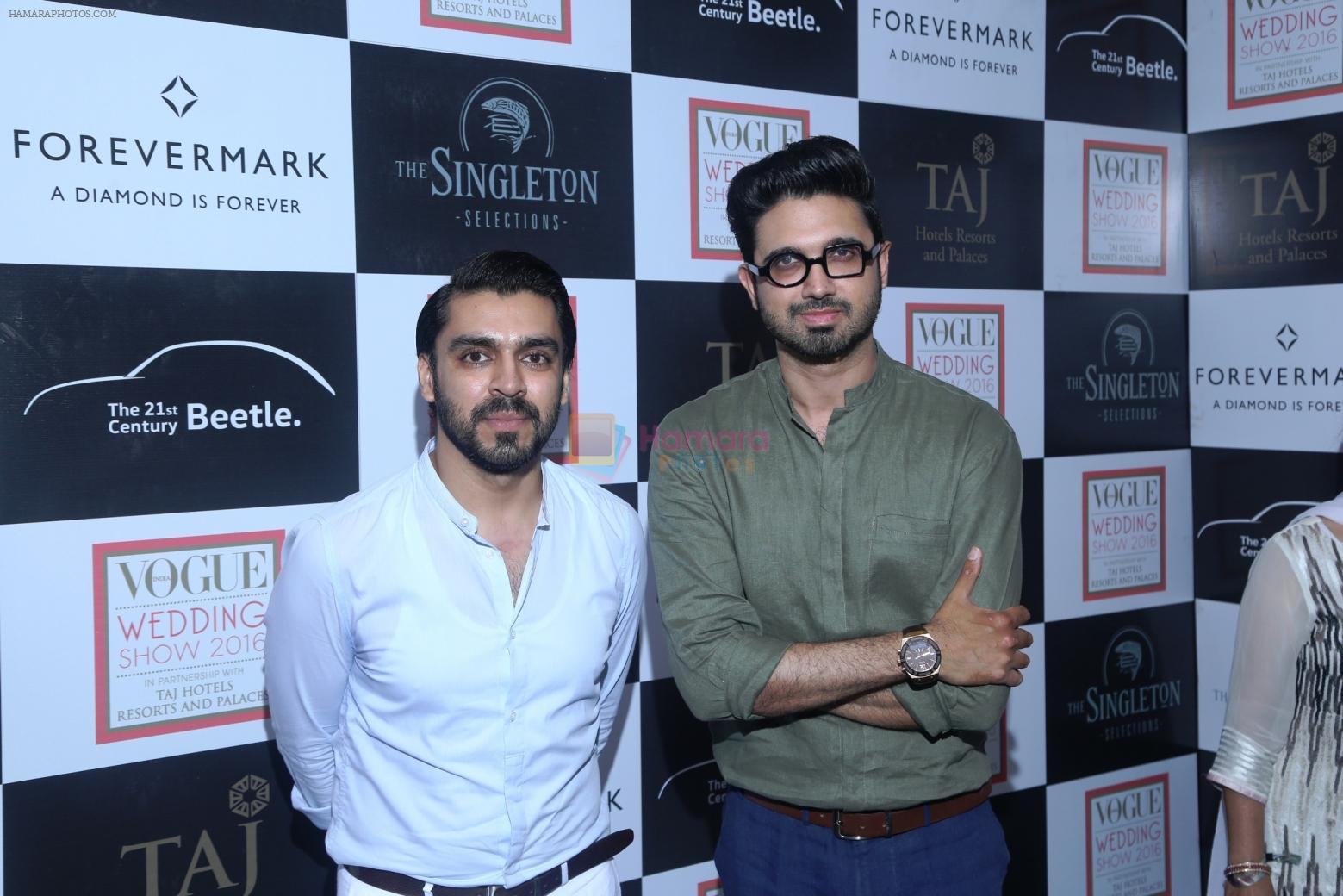 Designers Shivan and Narresh at Vogue Wedding Show 2016 at Taj Palace, New Delhi