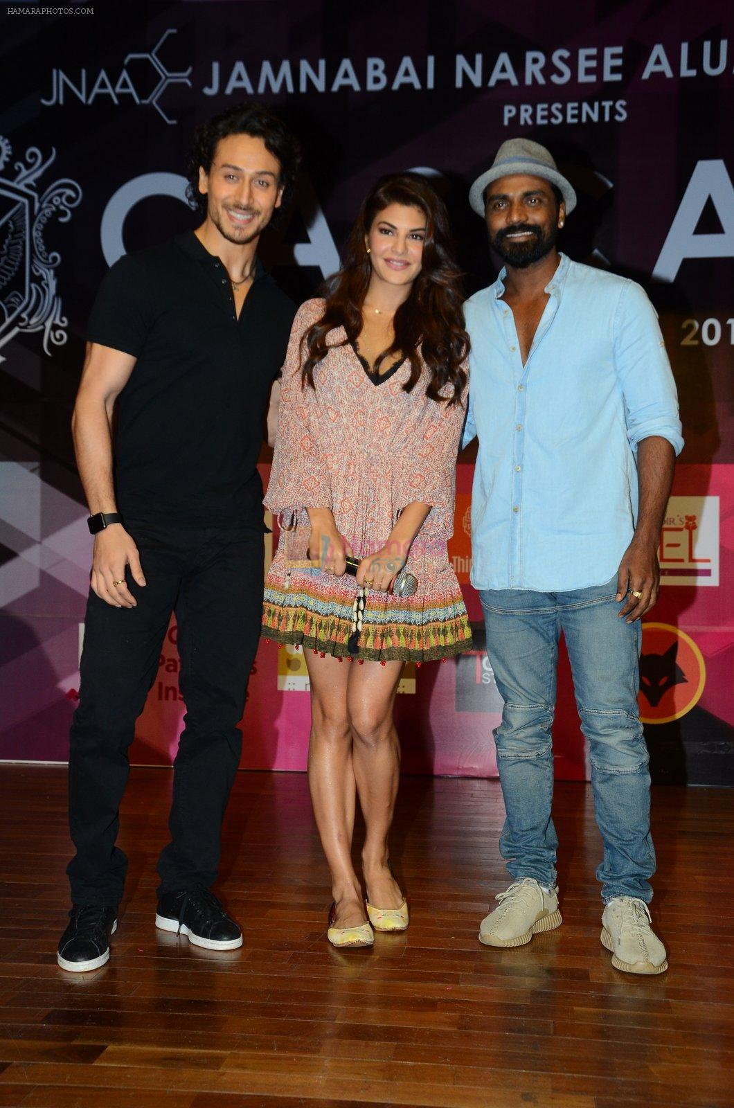 Tiger Shroff, Jacqueline Fernandez, Remo D Souza at Jamnabai's Cascade on 7th Aug 2016