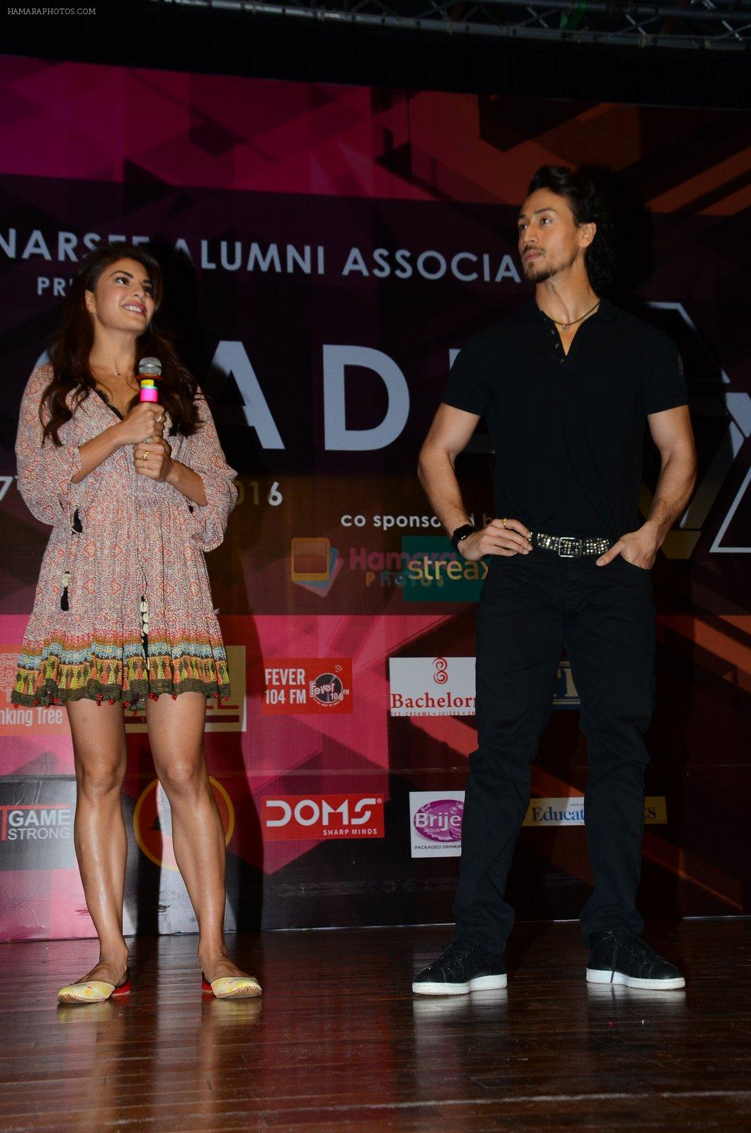 Tiger Shroff, Jacqueline Fernandez at Jamnabai's Cascade on 7th Aug 2016