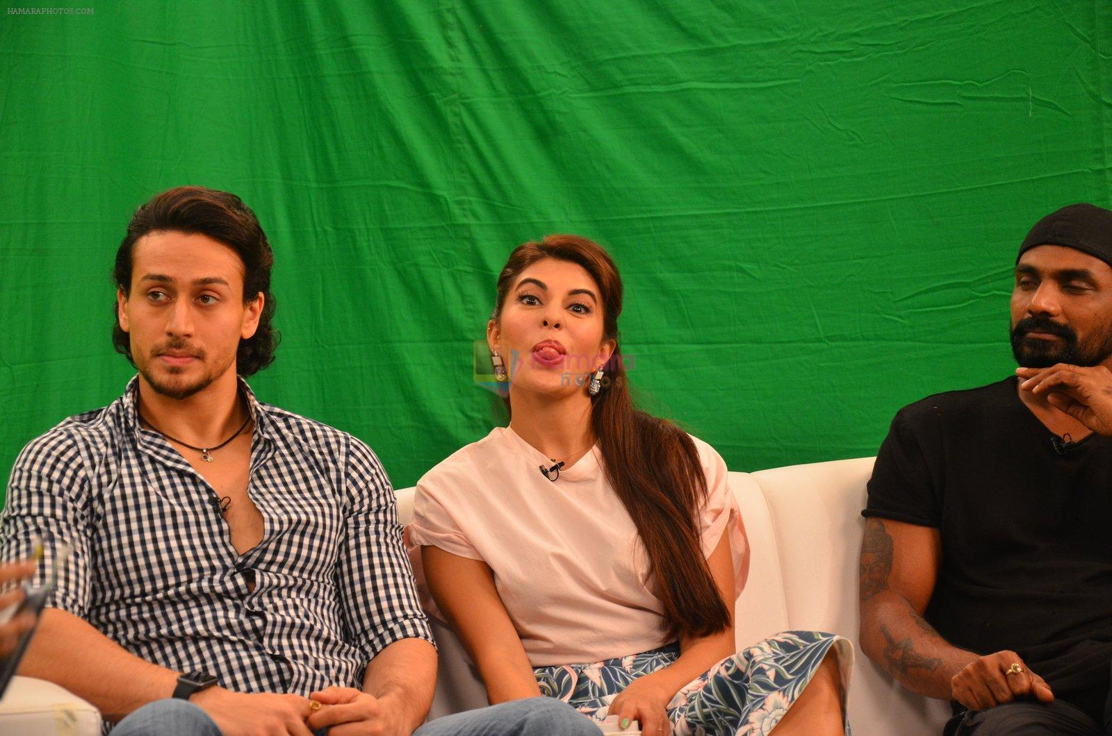 Tiger Shroff, Jacqueline Fernandez, Remo D Souza snapped in Mumbai to promote The Flying Jatt on 6th Aug 2016