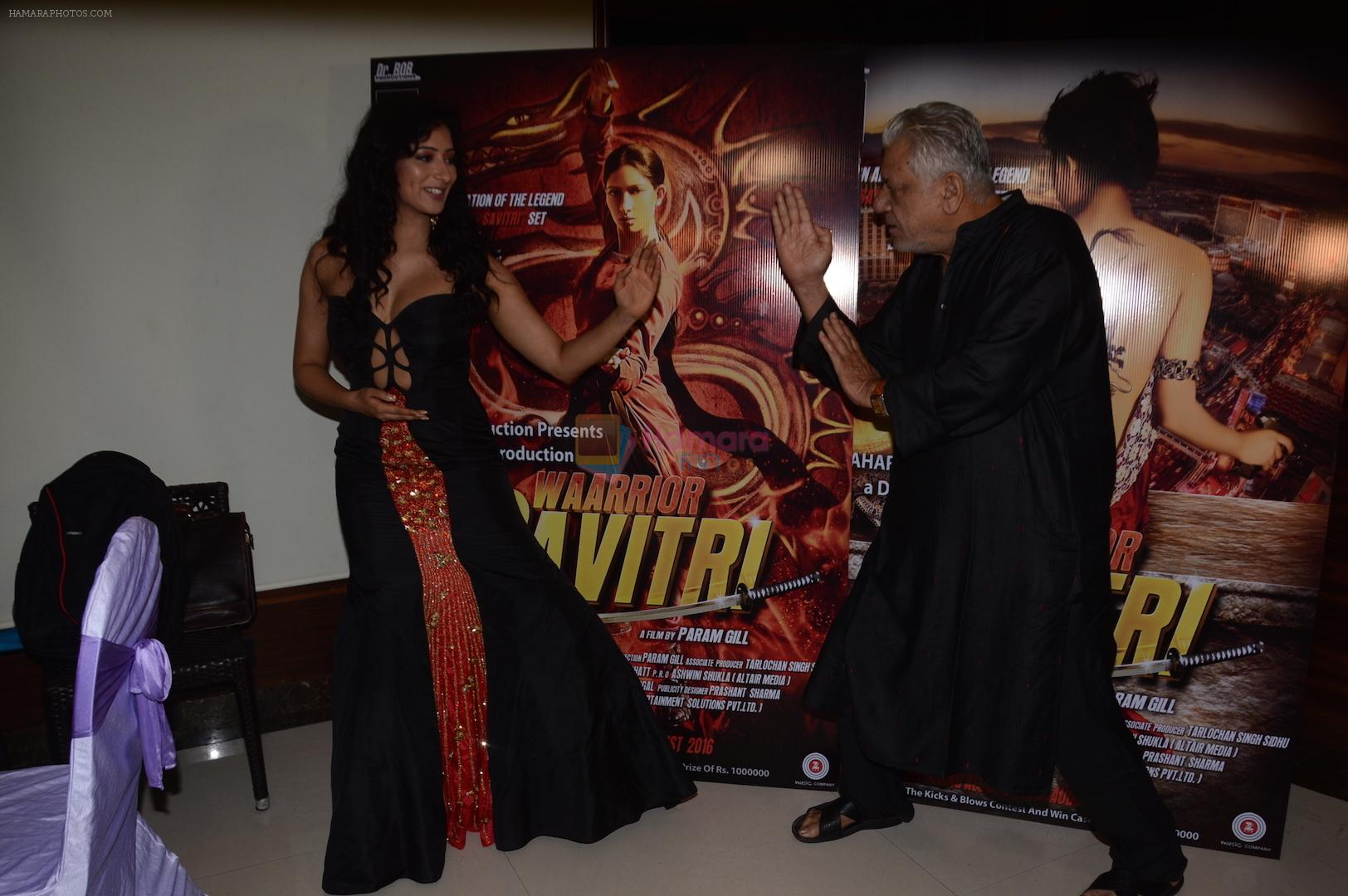 Niharica Raizada, Om Puri at the press meet of Waarrior Savitri  on 6th Aug 2016.