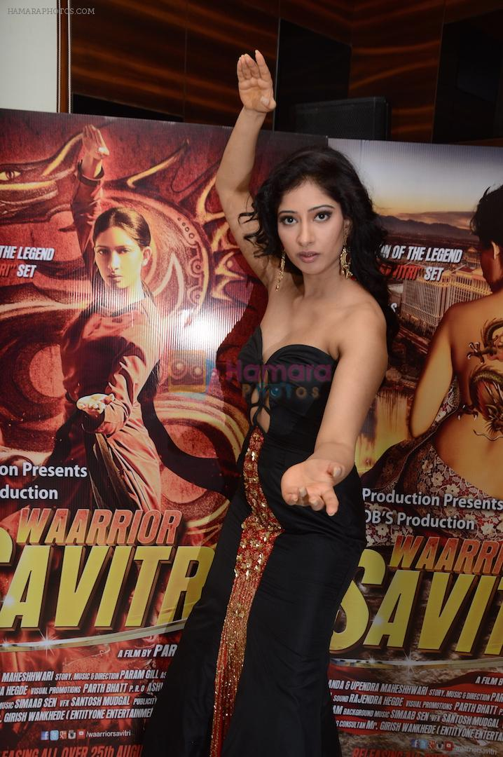 Niharica Raizada at the press meet of Waarrior Savitri  on 6th Aug 2016