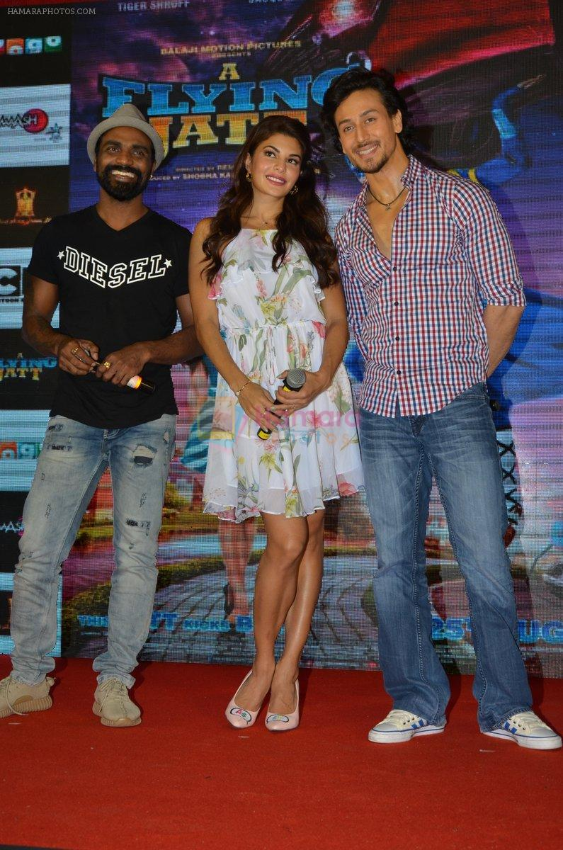 Tiger Shroff, Jacqueline Fernandez, Remo D Souza promote The Flying Jatt at Smaash on 8th Aug 2016