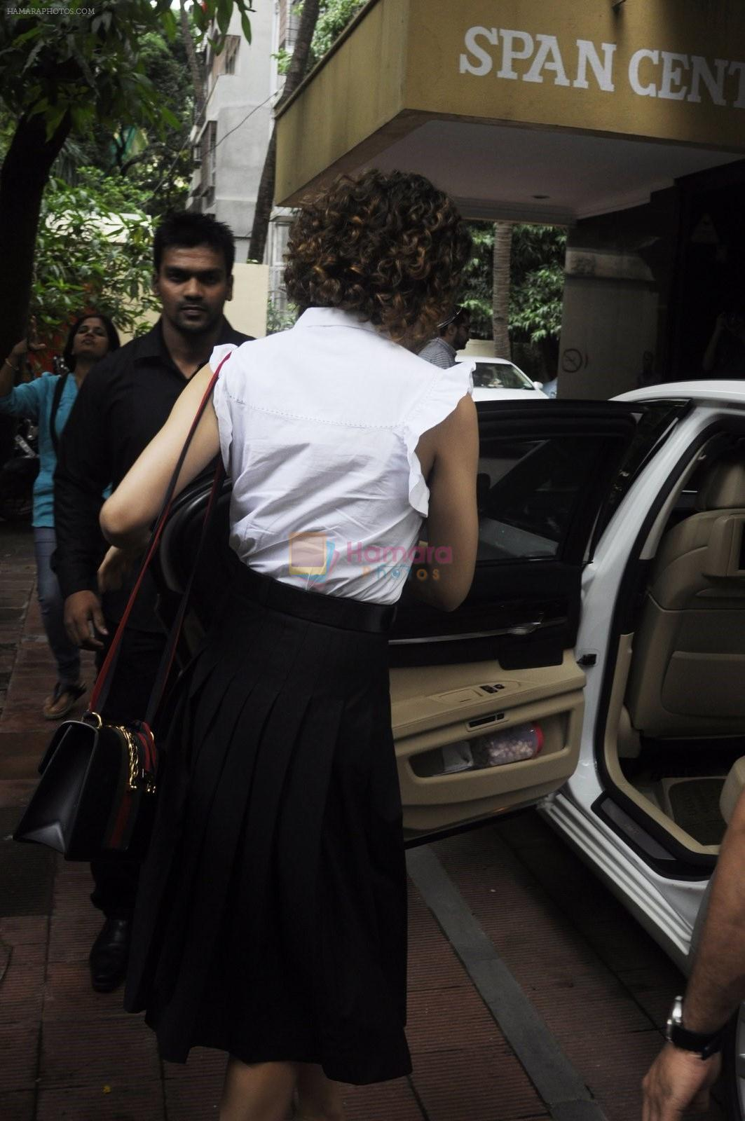 Kangana Ranaut snapped leaving recording studio on 10th Aug 2016