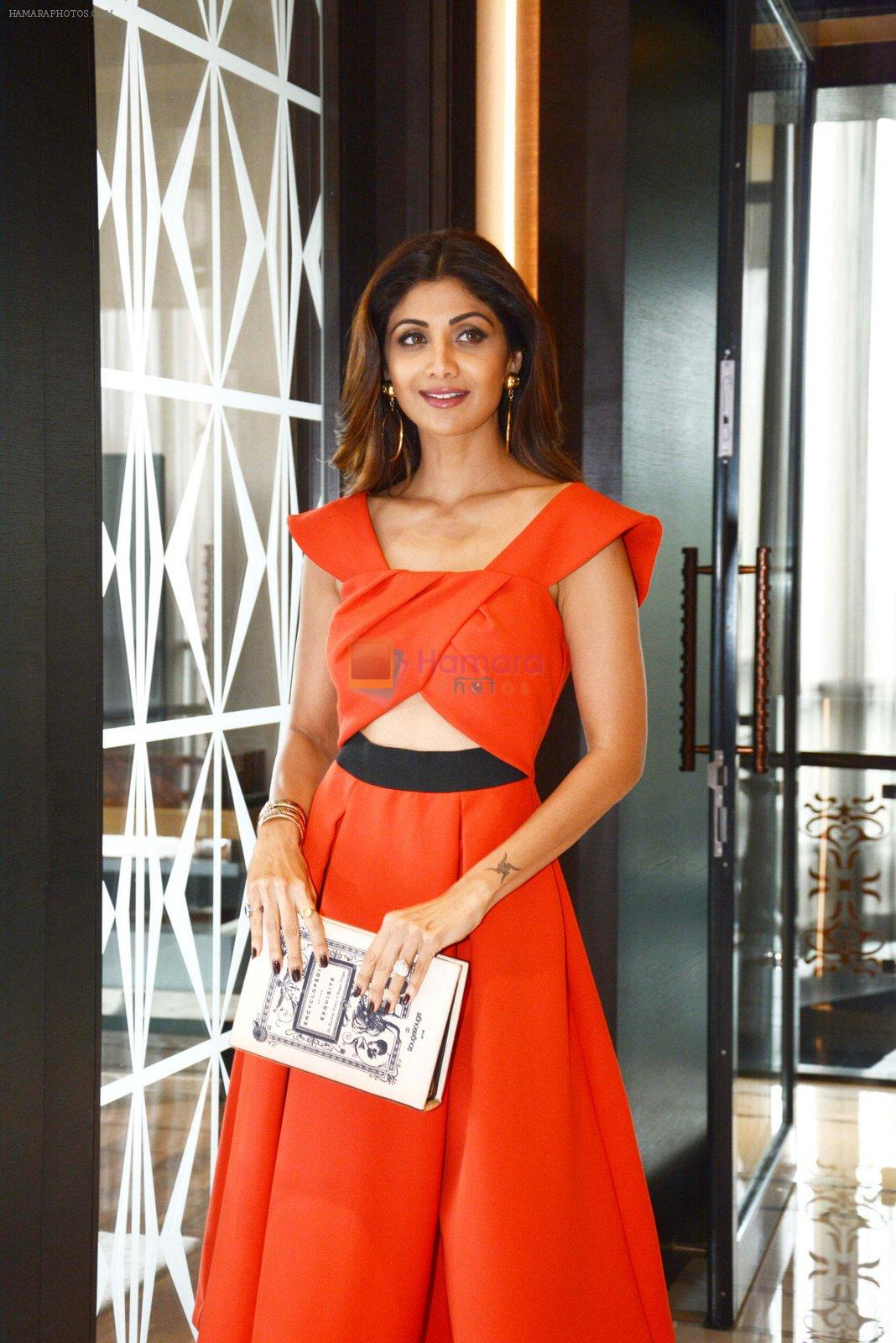 Shilpa Shetty during the press confrence to announce the stars & Superstars of Social Media outlook Social media Awards at Hotel Hyatt Regency,New Delhi on 10th Aug 2016