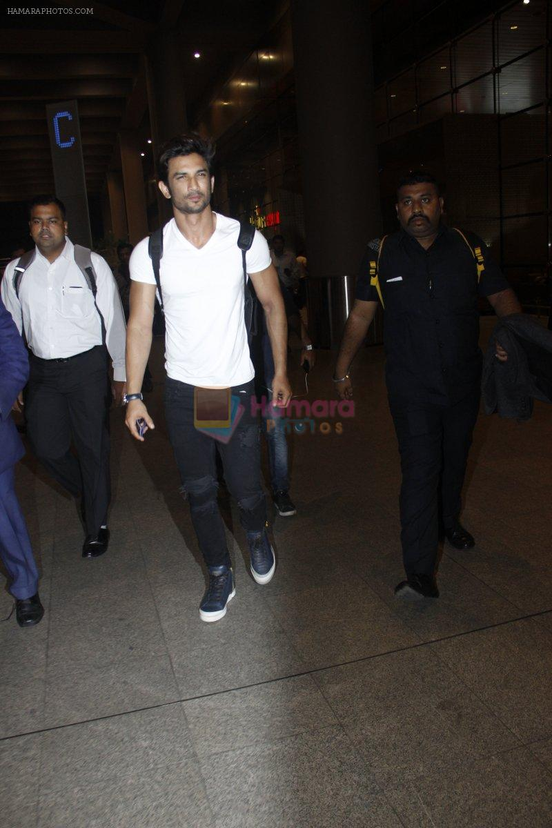 Sushant Singh Rajput snapped at airport on 11th Aug 2016