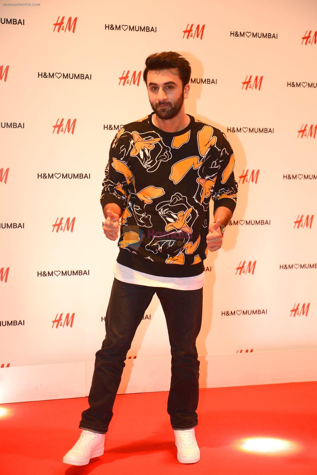 Ranbir Kapoor at h&m mubai launch on 11th Aug 2016