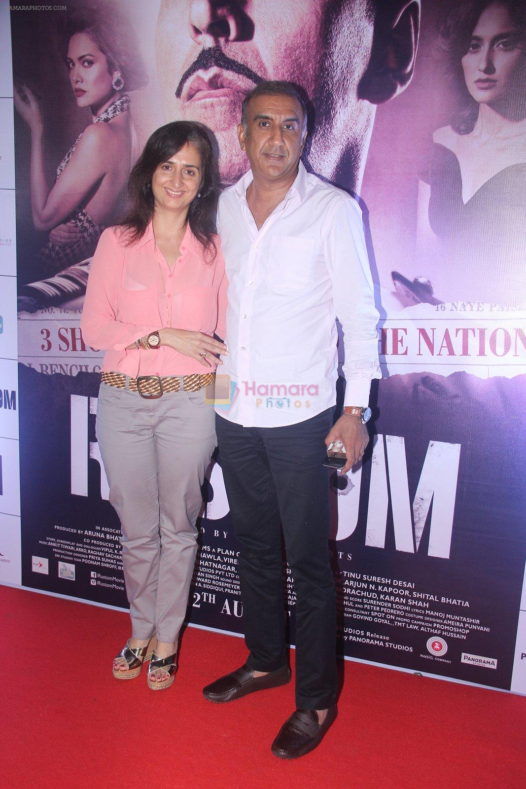 at Rustom screening in Sunny Super Sound on 11th Aug 2016