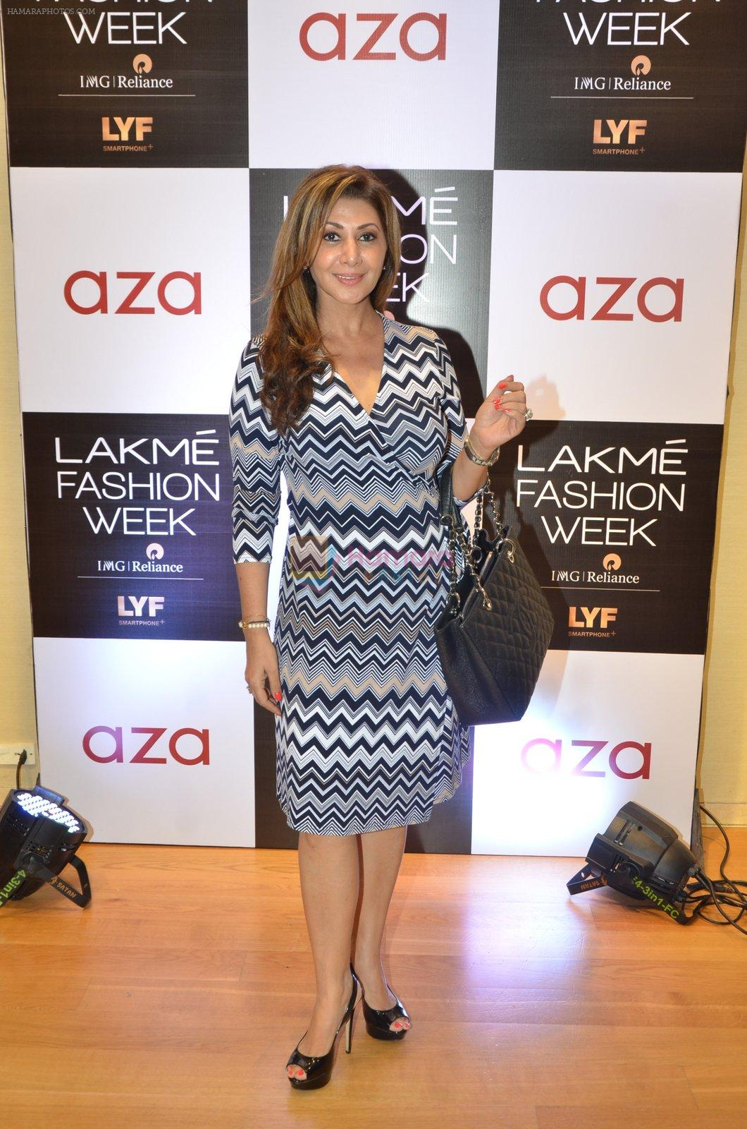 at Aza in association with Lakme Fashion Week with emerging designers on 11th Aug 2016