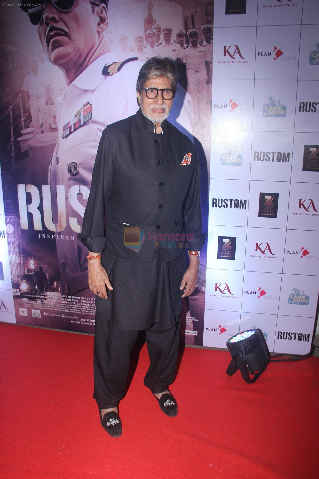 Amitabh Bachchan at Rustom screening in Sunny Super Sound on 11th Aug 2016