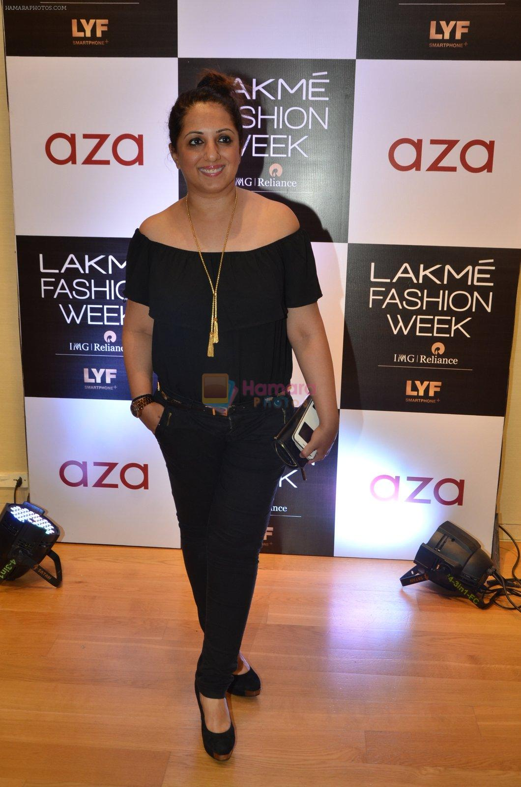 Munisha Khatwani at Aza in association with Lakme Fashion Week with emerging designers on 11th Aug 2016