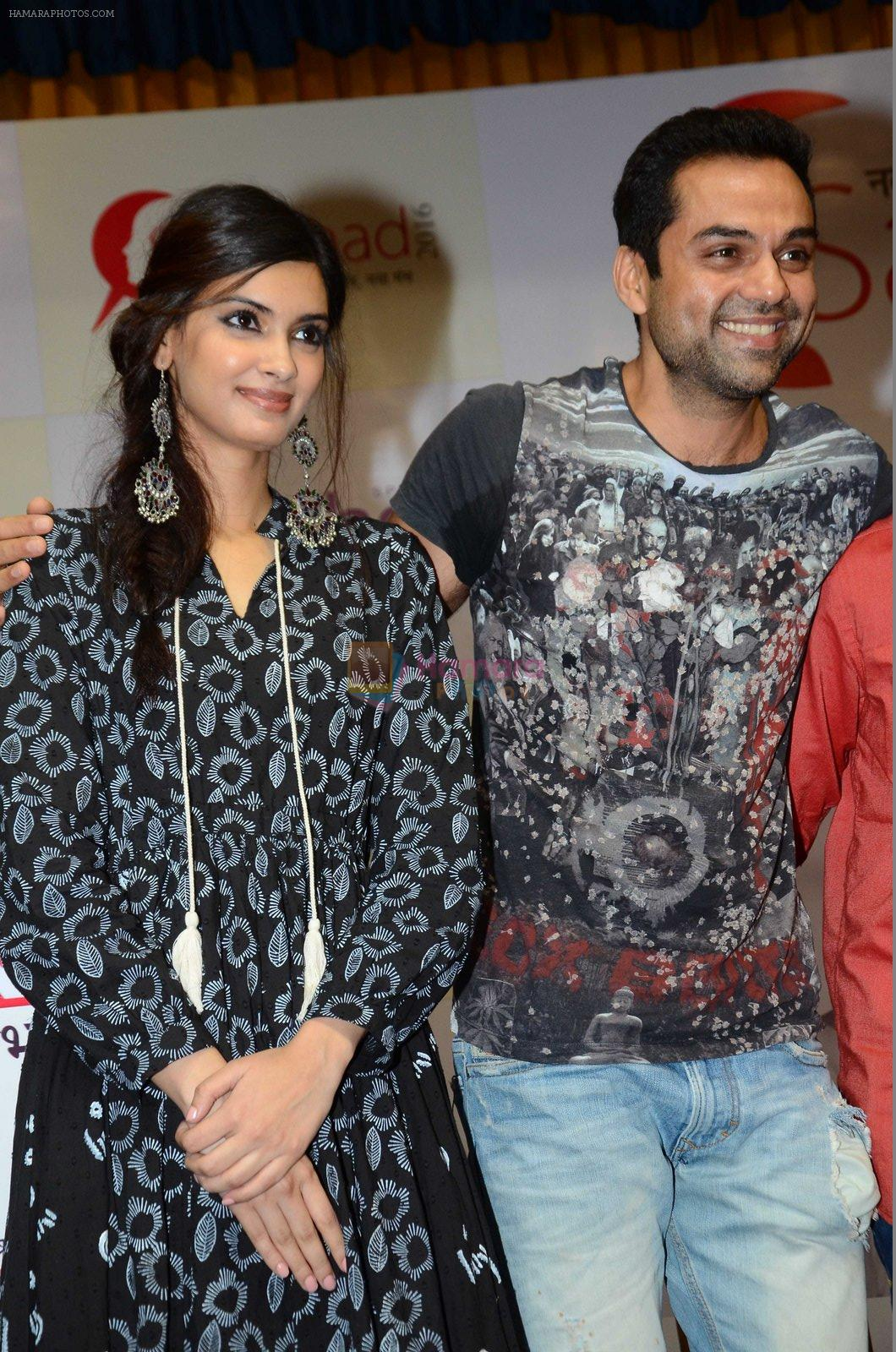 Diana Penty,Abhay Deol sanpped at Welingkar college on 12th Aug 2016